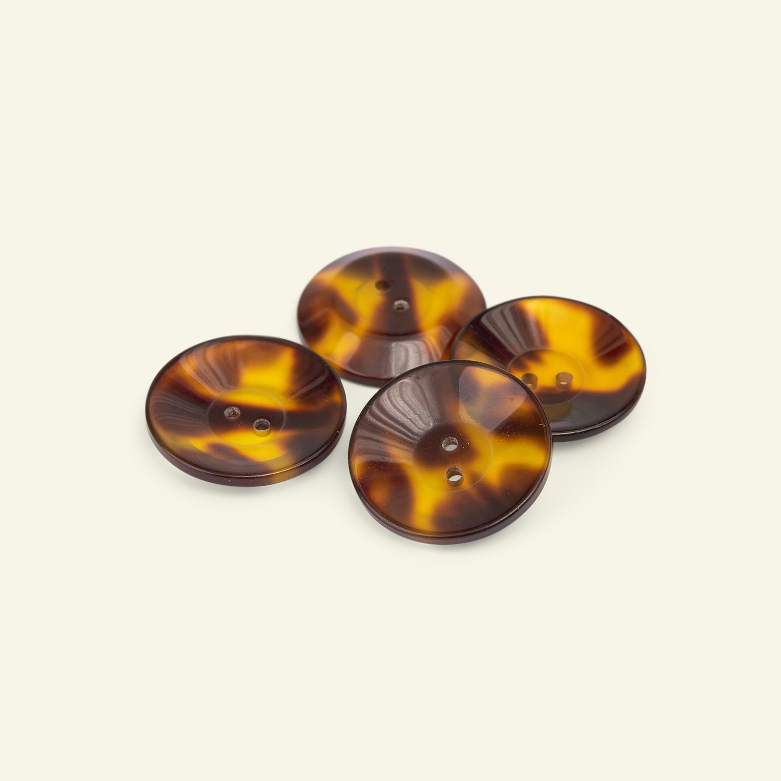 Button 2-holes 27mm brown 4pcs 33420_pack