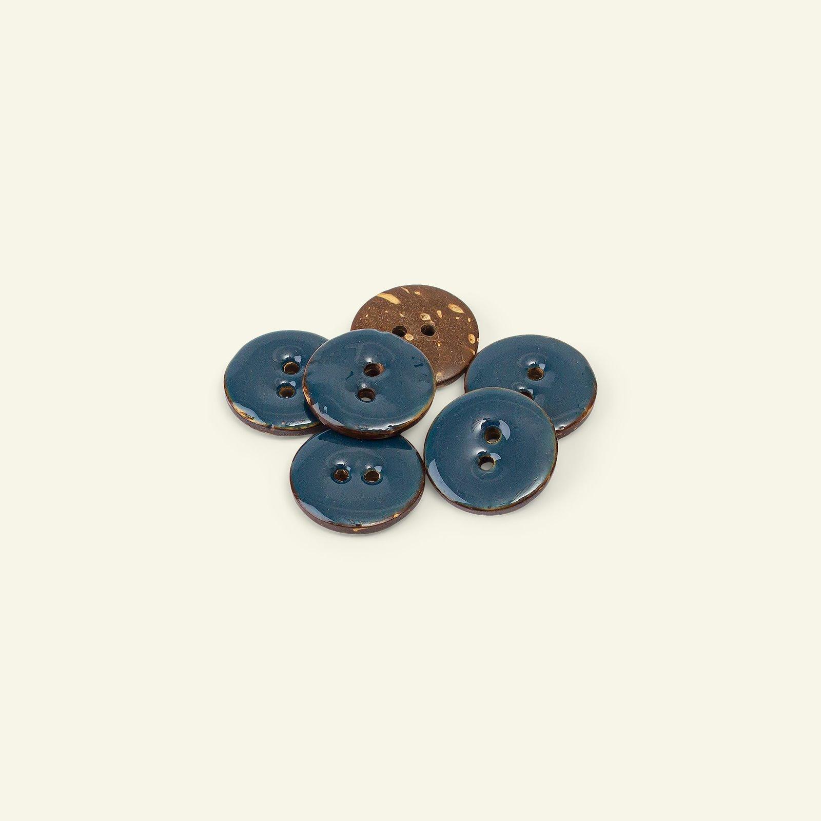 Button 2-holes coconut 18mm navy 6pcs 33211_pack