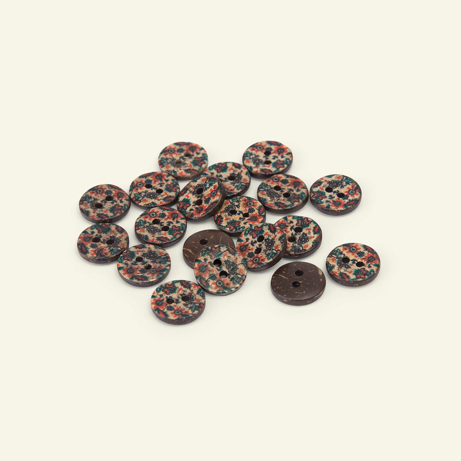 Button 2-holes coconut flower 12mm 10pcs 33545_pack