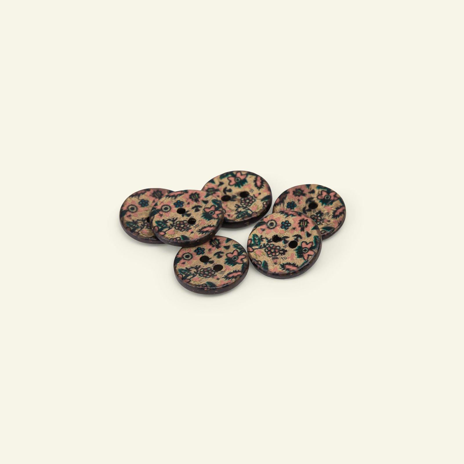 Button 2-holes coconut flower 18mm 6pcs 33518_pack