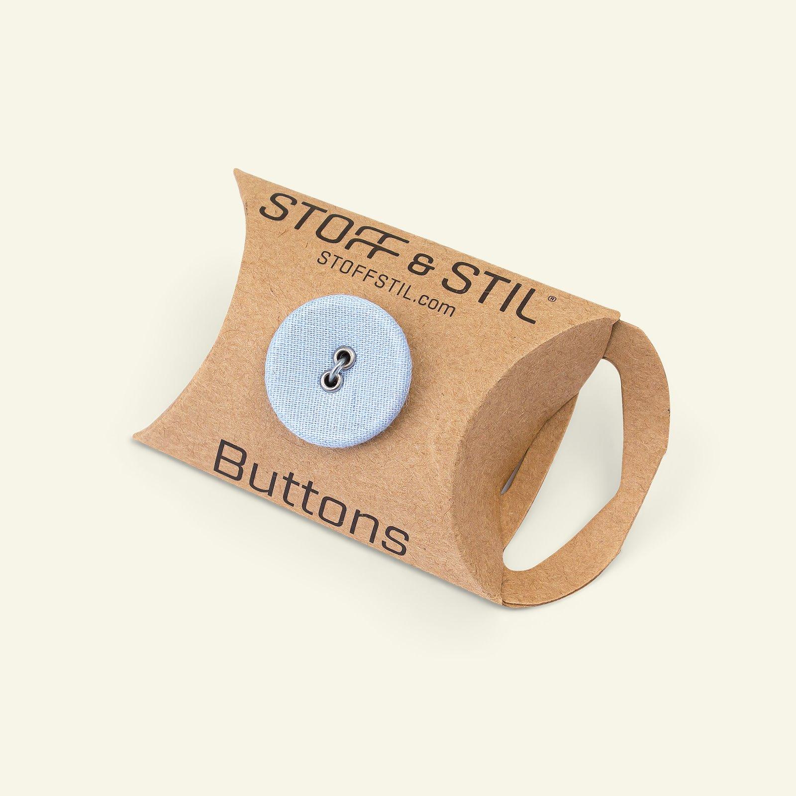 Button 2-holes fabric 20mm grey 6pcs 33299_pack_b