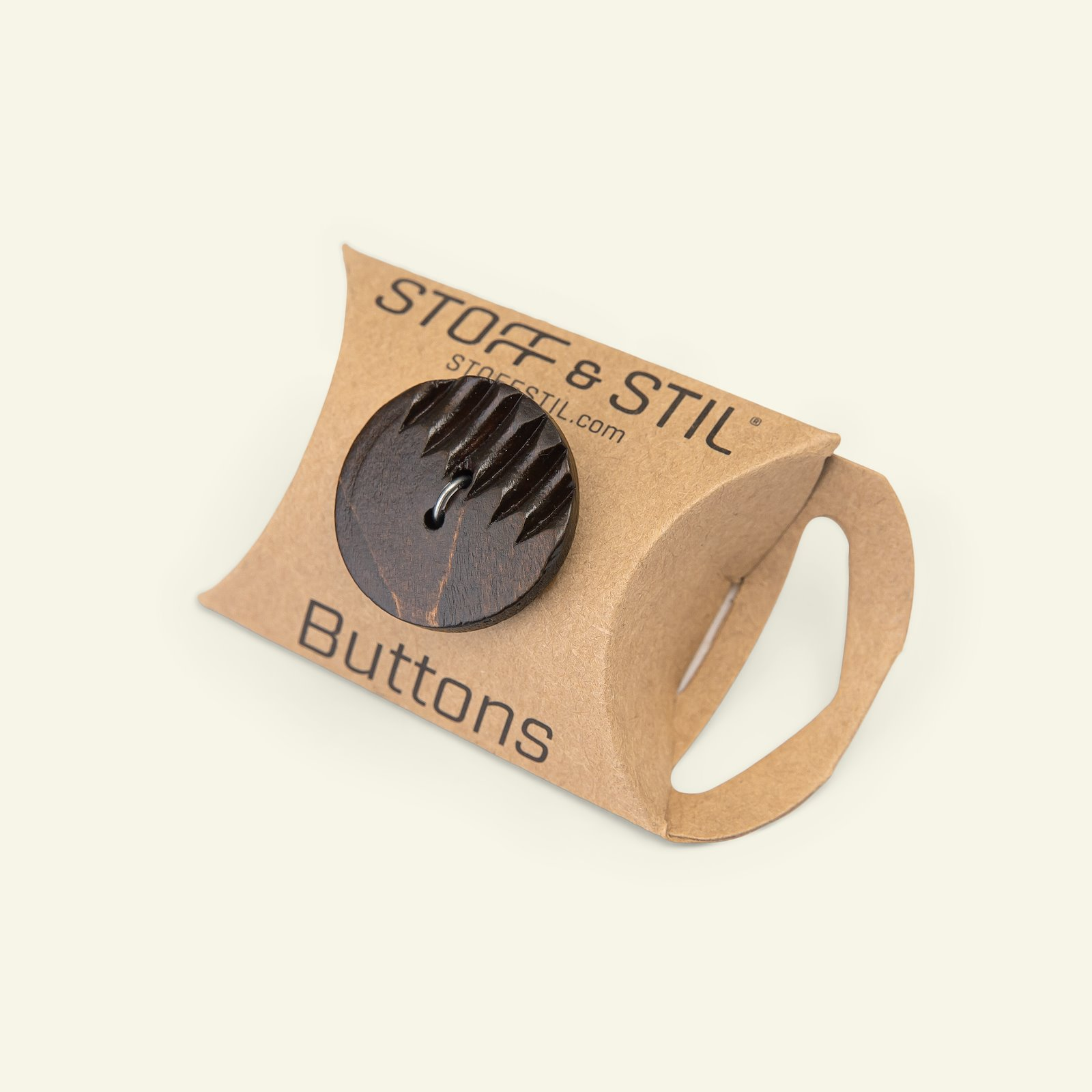Button 2-holes grooved 40mm brown 4pcs 33530_pack_b