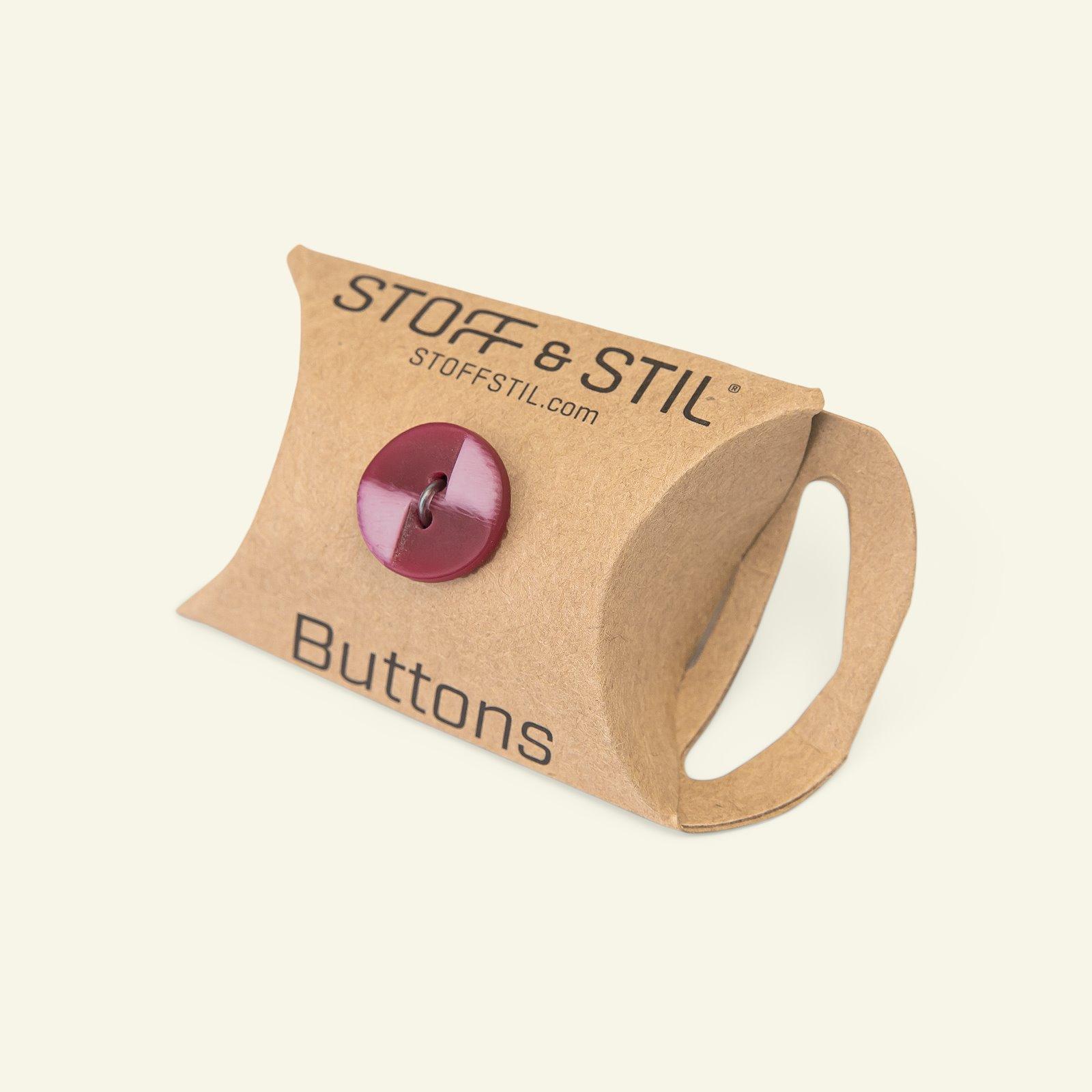 Button 2-holes matt 15mm red/pink 10pcs 33485_pack_b