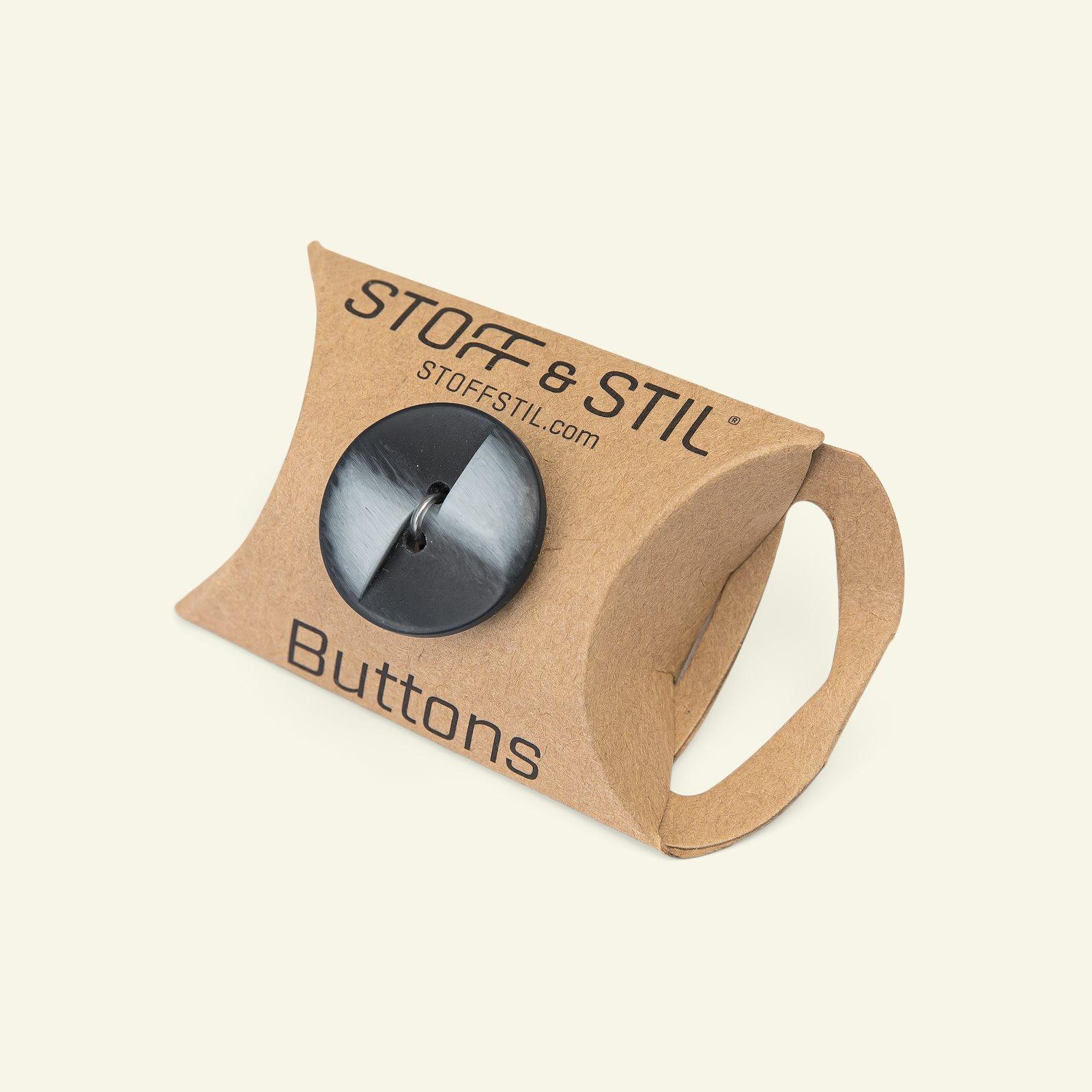 Button 2-holes matt 23mm navy/blue 6pcs 33474_pack_b