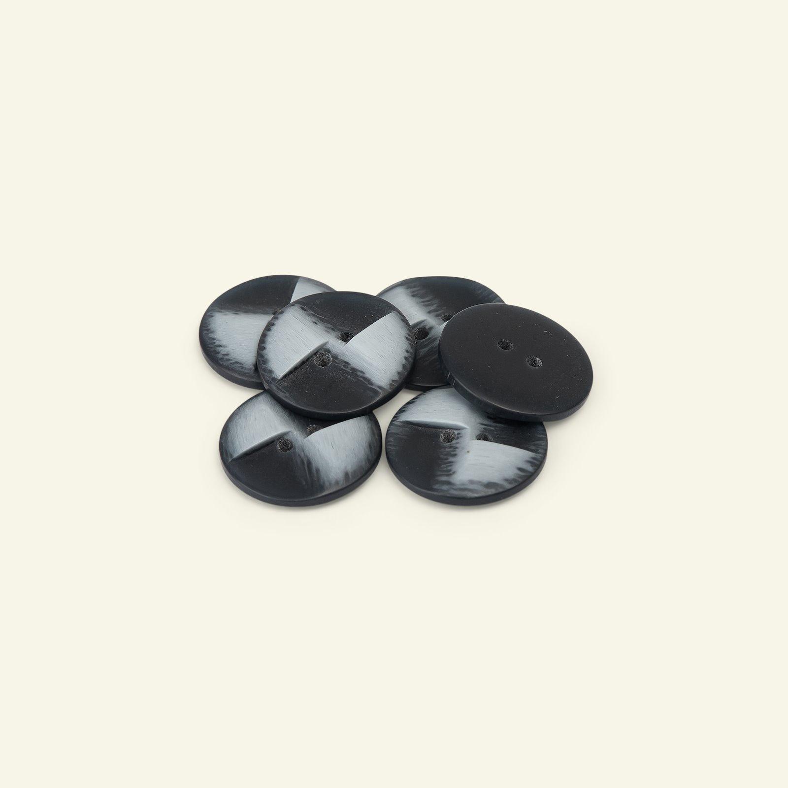Button 2-holes matt 23mm navy/blue 6pcs 33474_pack
