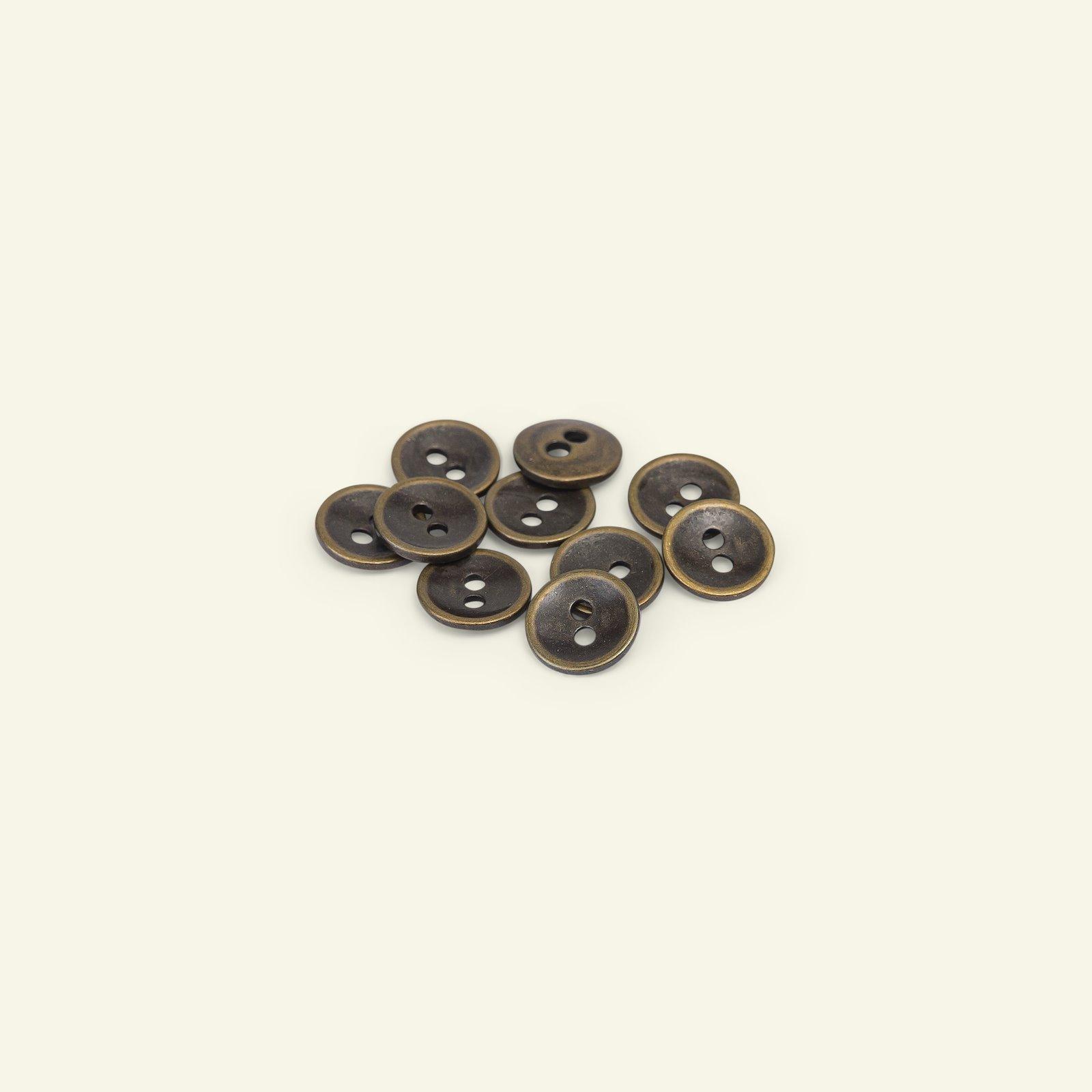 Button 2-holes metal 11mm gold 10pcs 33534_pack