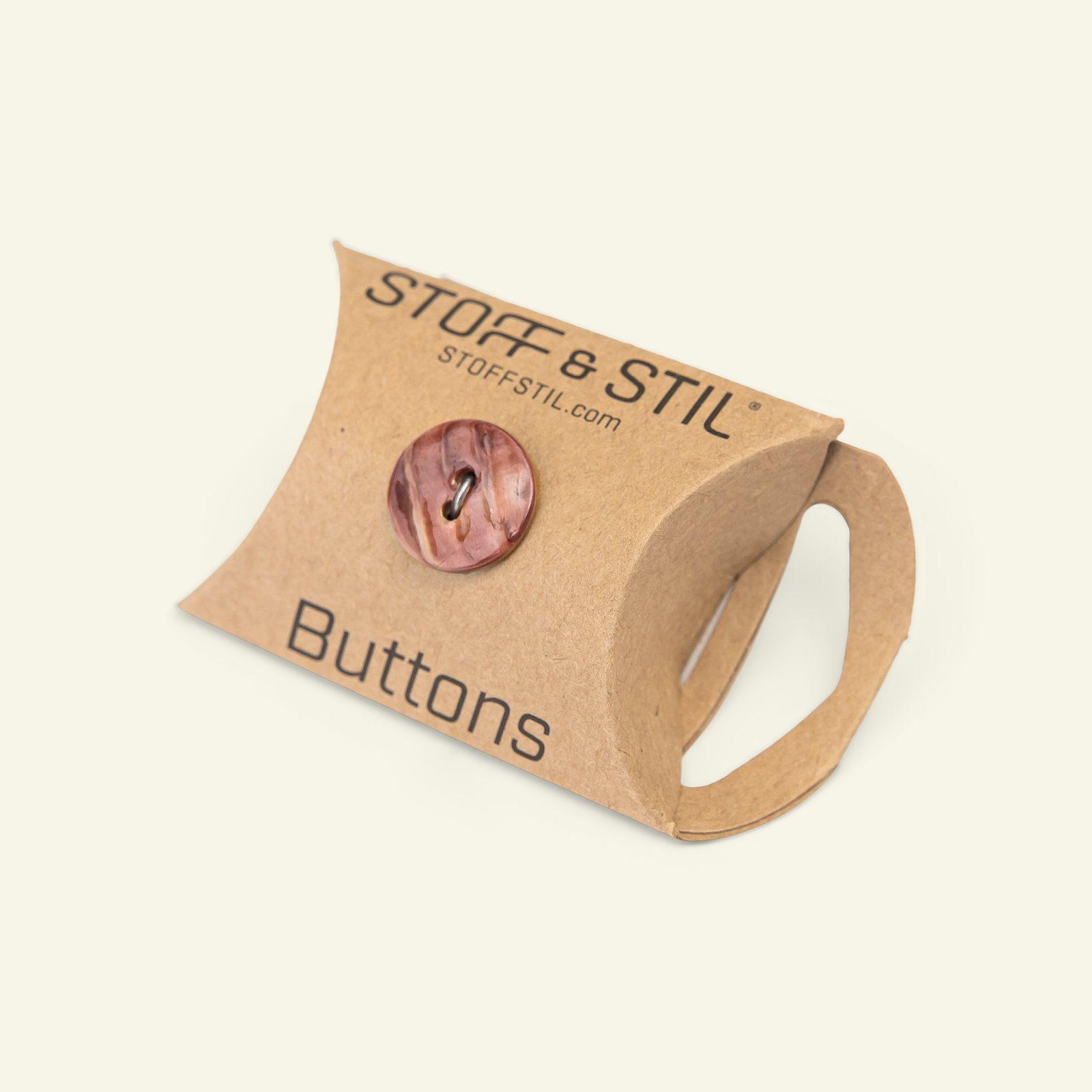Button 2-holes MOP 15mm pink 10pcs 33538_pack_b