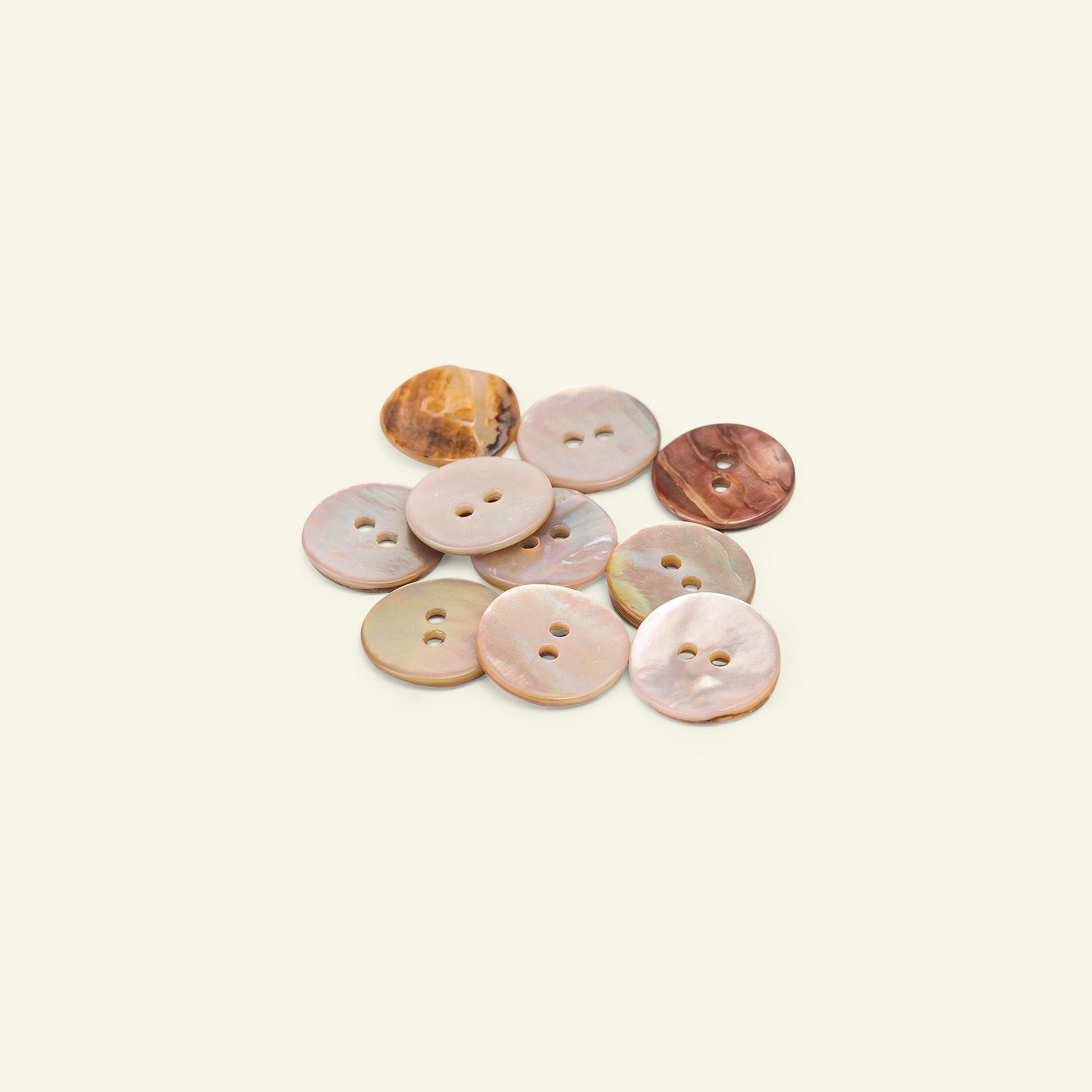 Button 2-holes MOP 15mm pink 10pcs 33538_pack