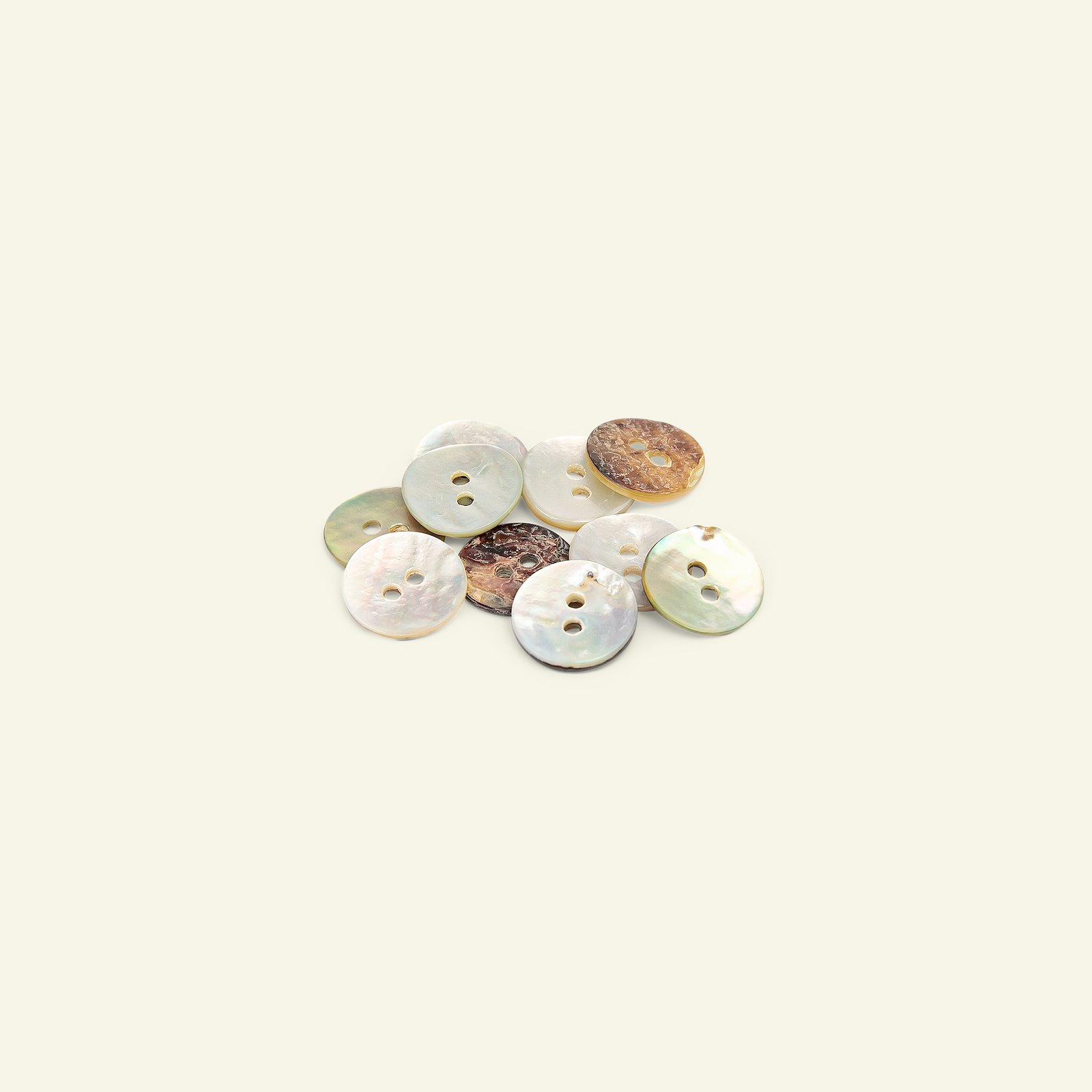 Button 2-holes mother of pearl 12mm 10pc 33490_pack