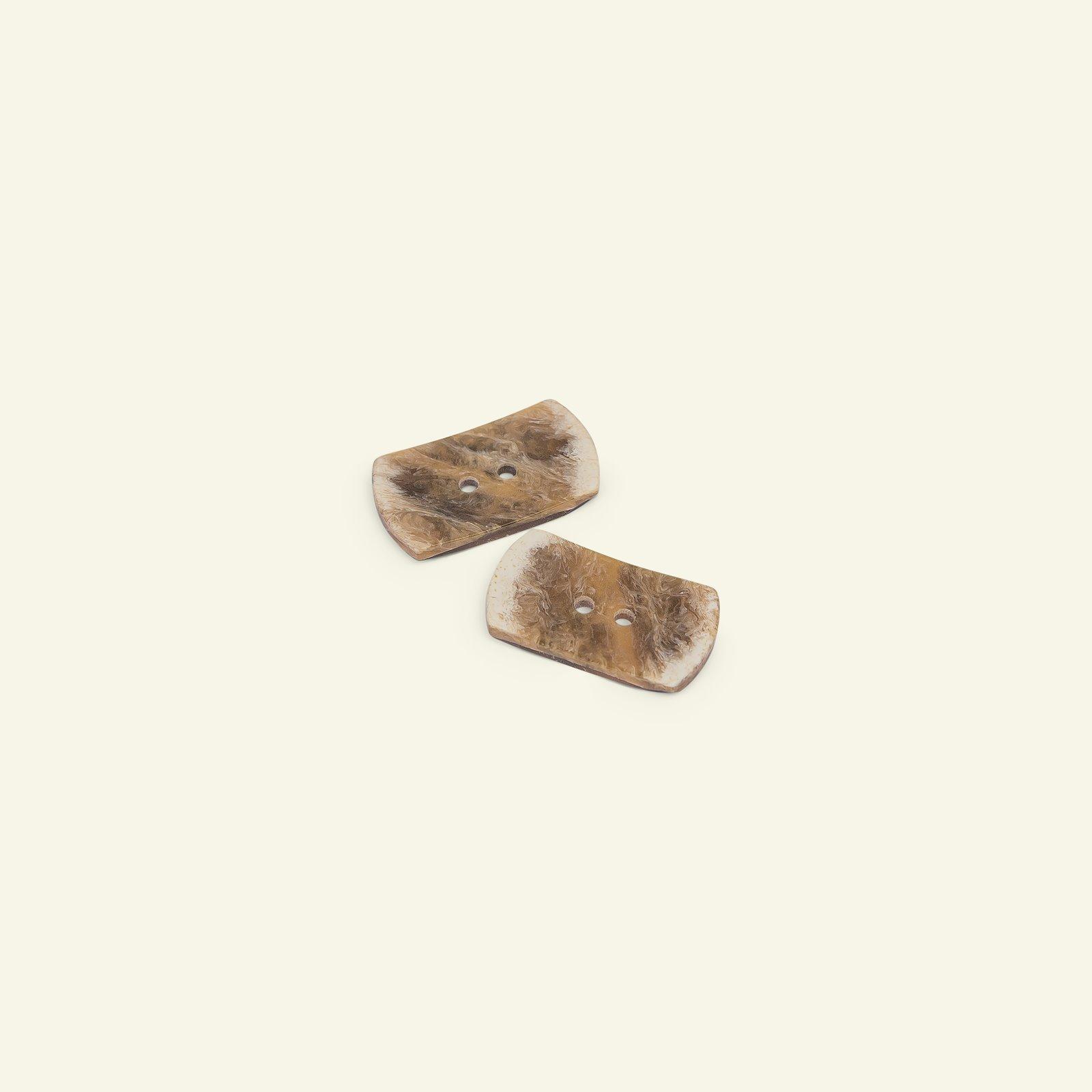 Button 2-holes oblong 22mm brown 2pcs 33601_pack
