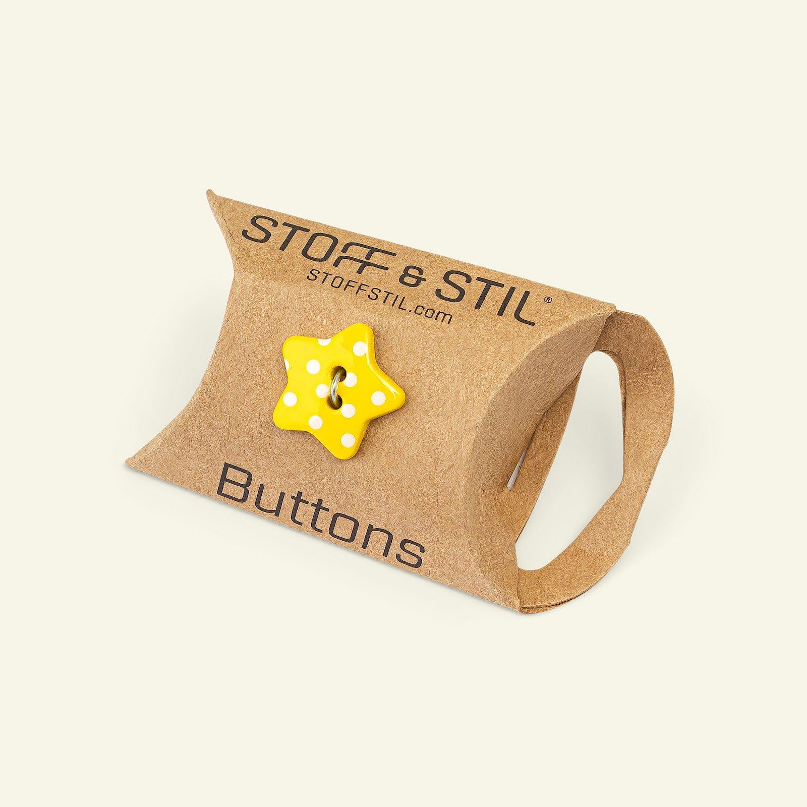 Button 2-holes star 18mm yellow 5pcs 33255_pack_b