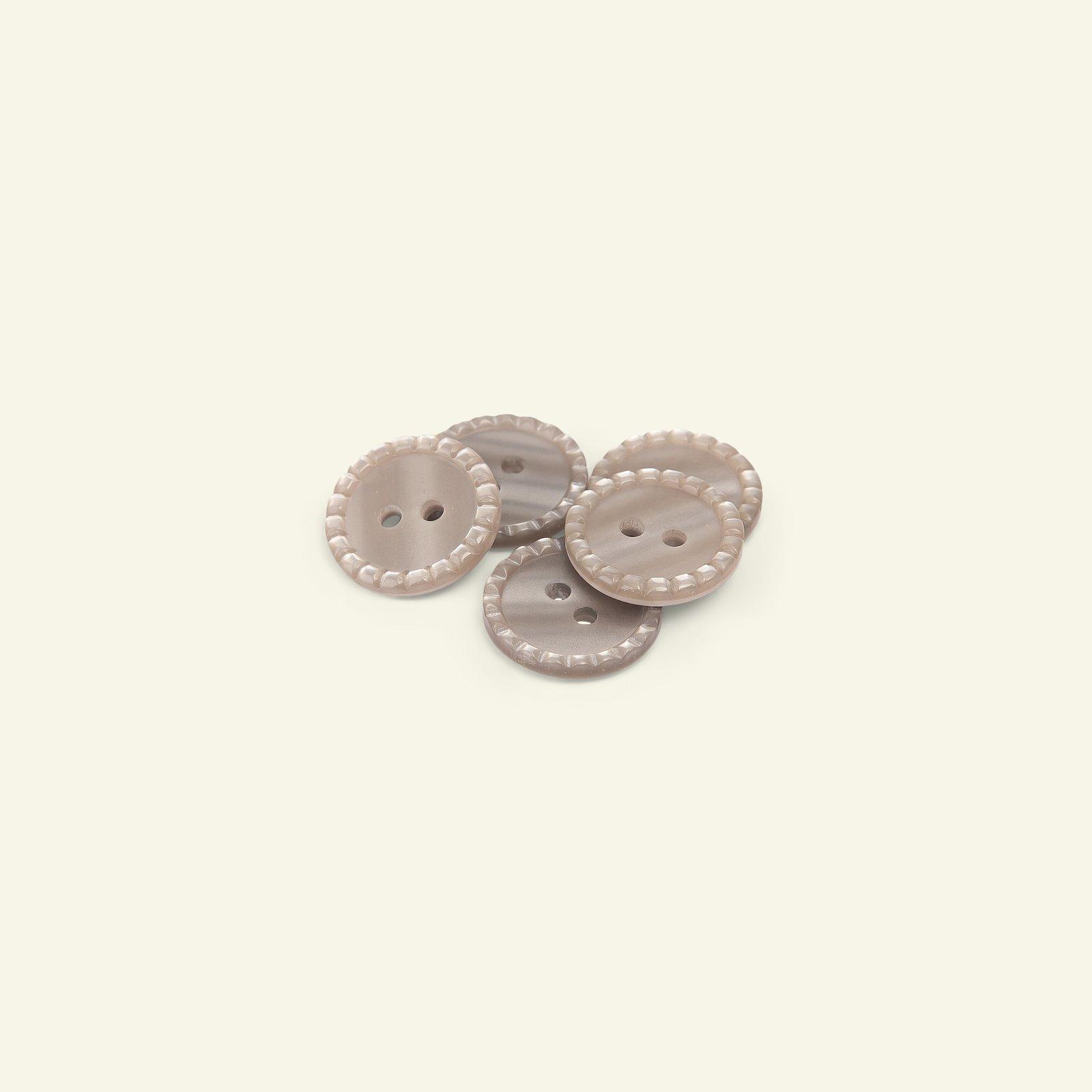 Button 2-holes stitch rim 18mm brown 5pc 33020_pack