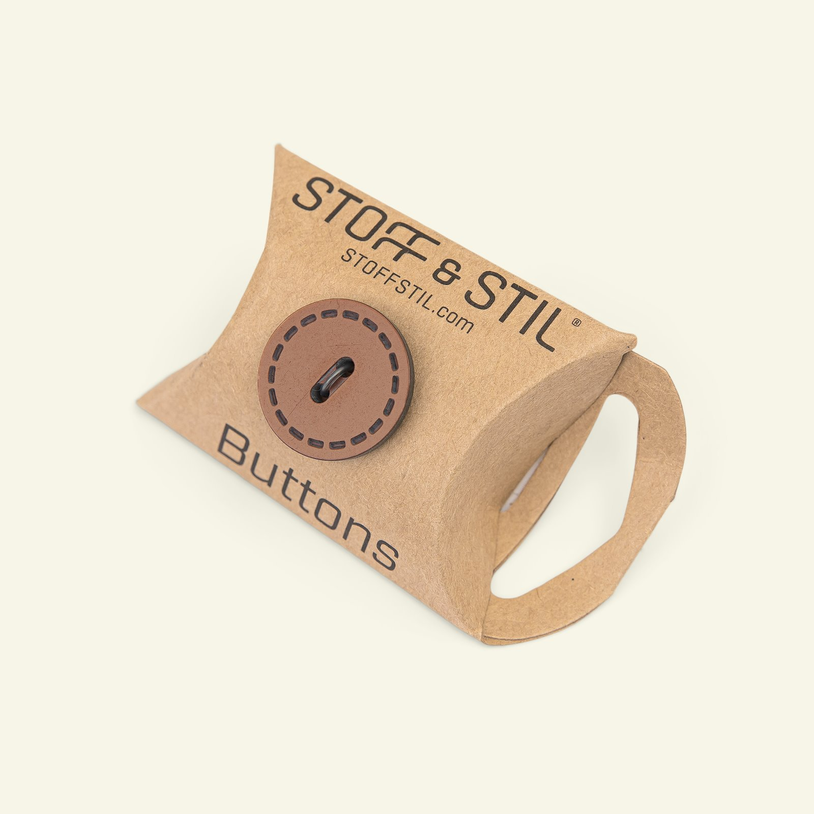 Button 2-holes stitch rim 20mm brown 6pc 33424_pack_b