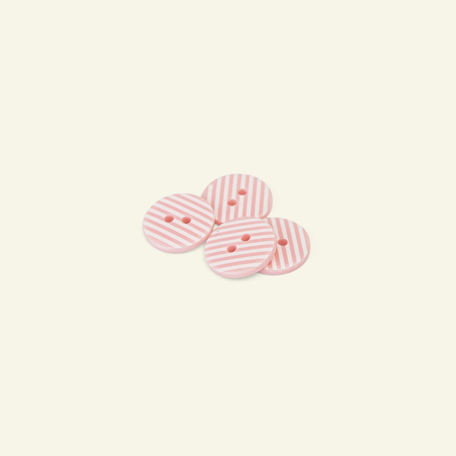 Button 2-holes stripes 18mm pink 4pcs 33348_pack