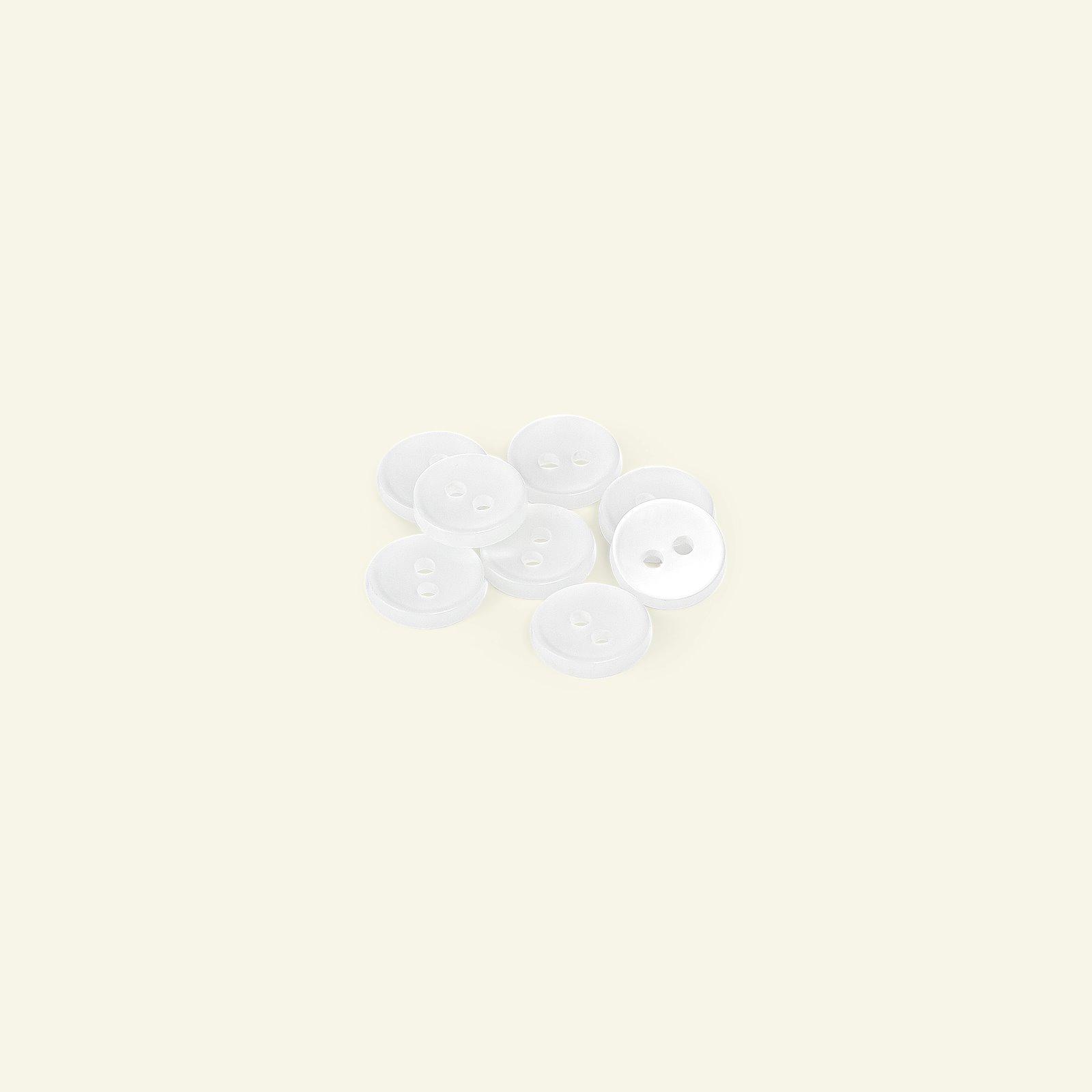 Button 2-holes w/rim 12mm white 8pcs 33000_pack