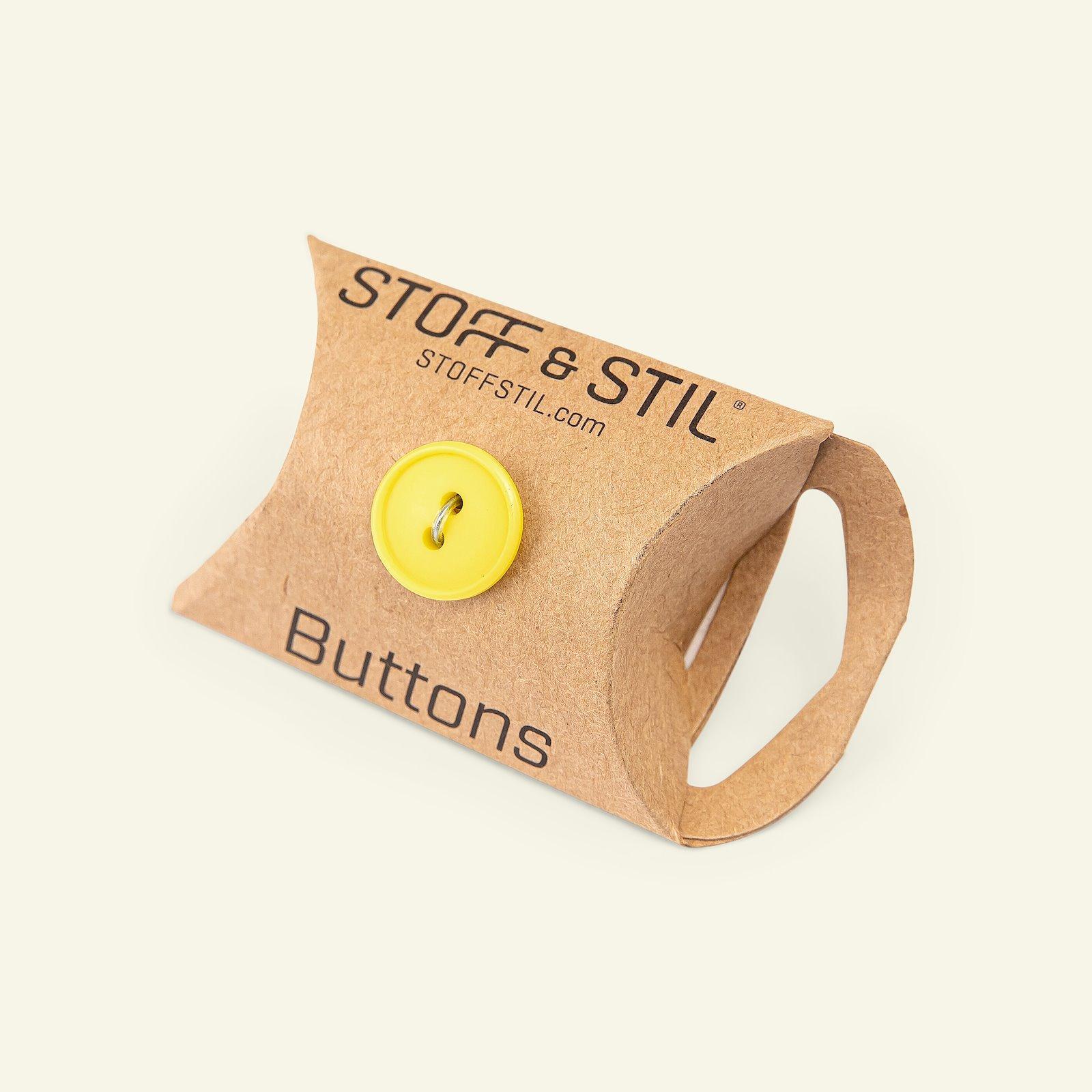 Button 2-holes w/rim 15mm yellow 6pcs 33262_pack_b