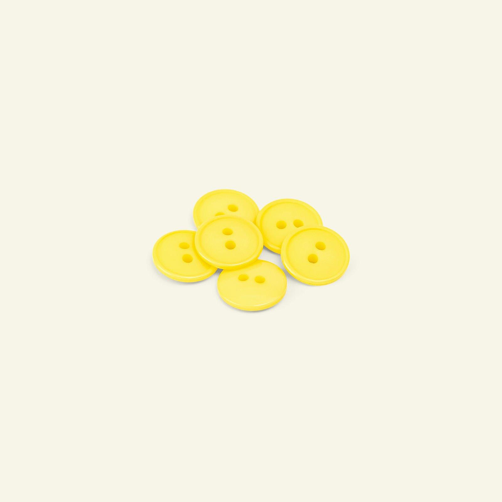 Button 2-holes w/rim 15mm yellow 6pcs 33262_pack