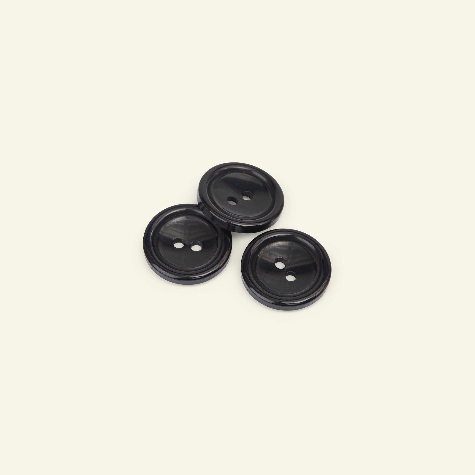 Button 2-holes w/rim 20mm black 3pcs 33139_pack