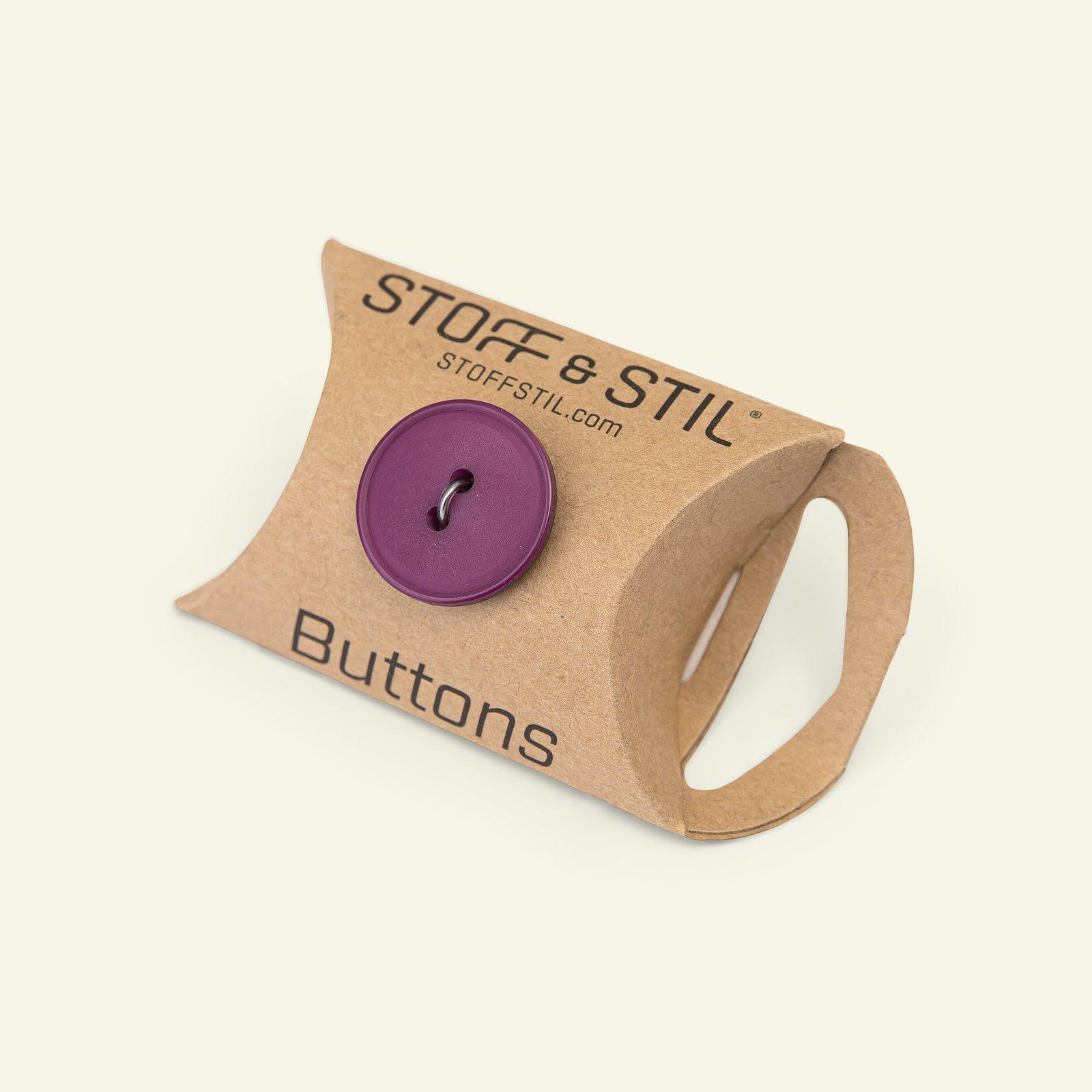 Button 2-holes w/rim 20mm bordeaux 5pcs 33379_pack_b