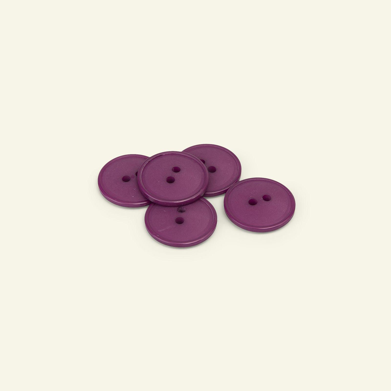 Button 2-holes w/rim 20mm bordeaux 5pcs 33379_pack