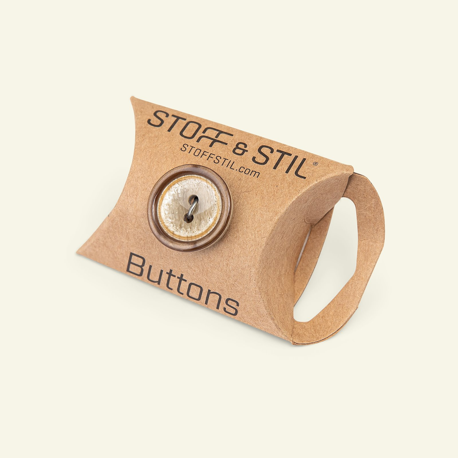 Button 2-holes w/rim 20mm brown 3pcs 33359_pack_b
