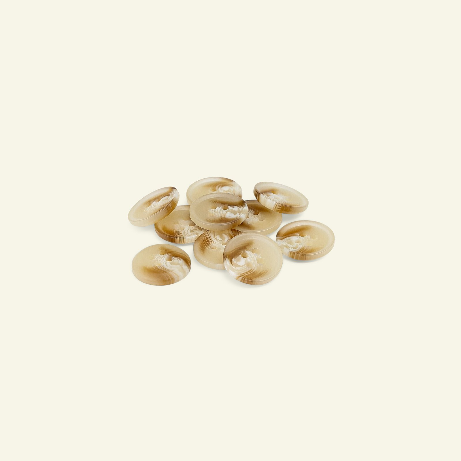 Button 4-holes 15mm light beige 10pcs 40241_pack