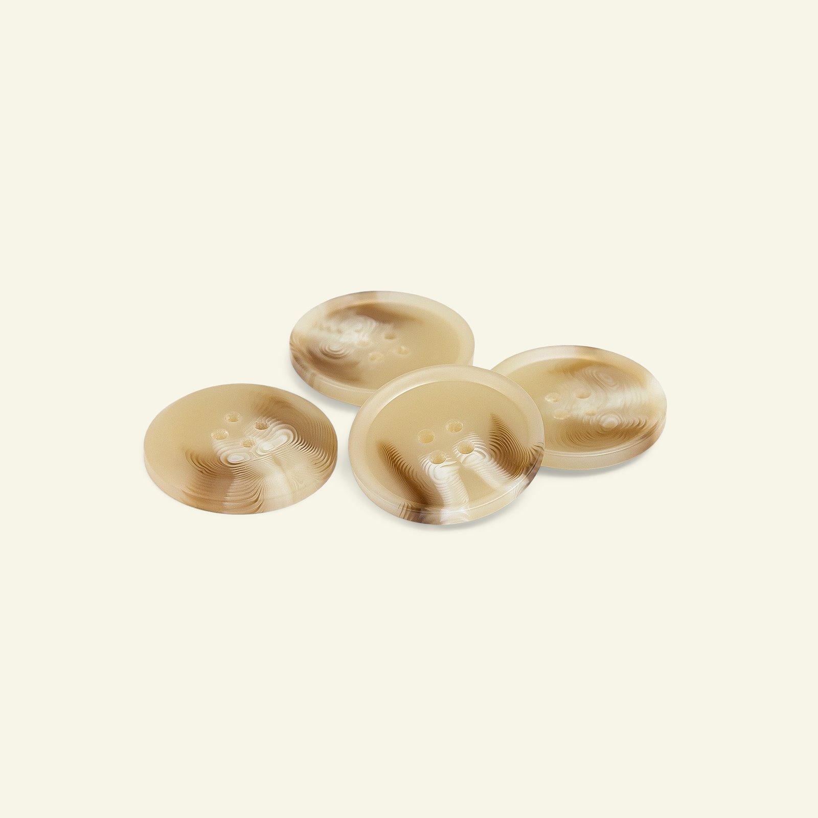 Button 4-holes 27mm light beige 4pcs 40239_pack