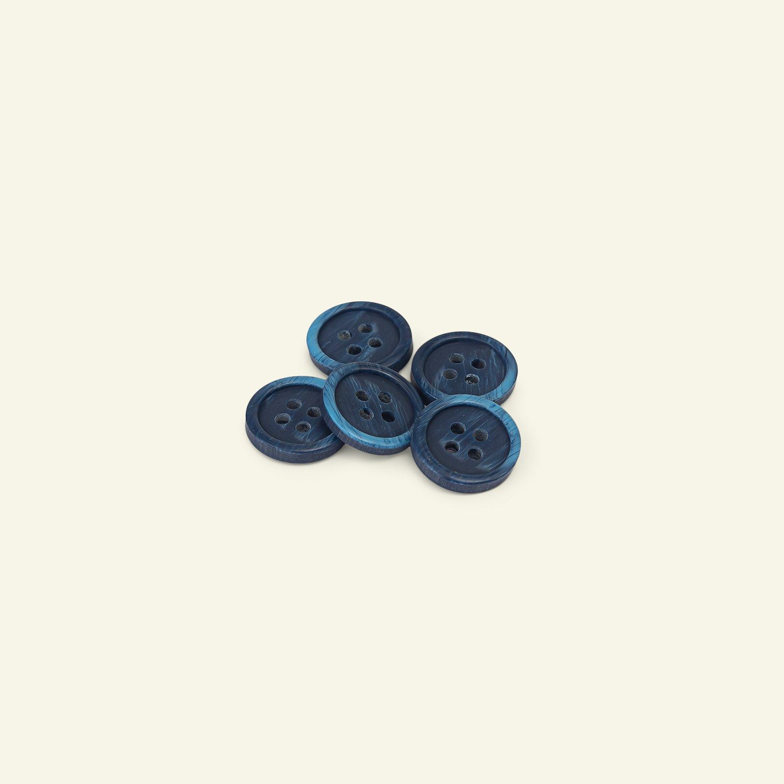 Button 4-holes marble 15mm blue 5pcs 33184_pack