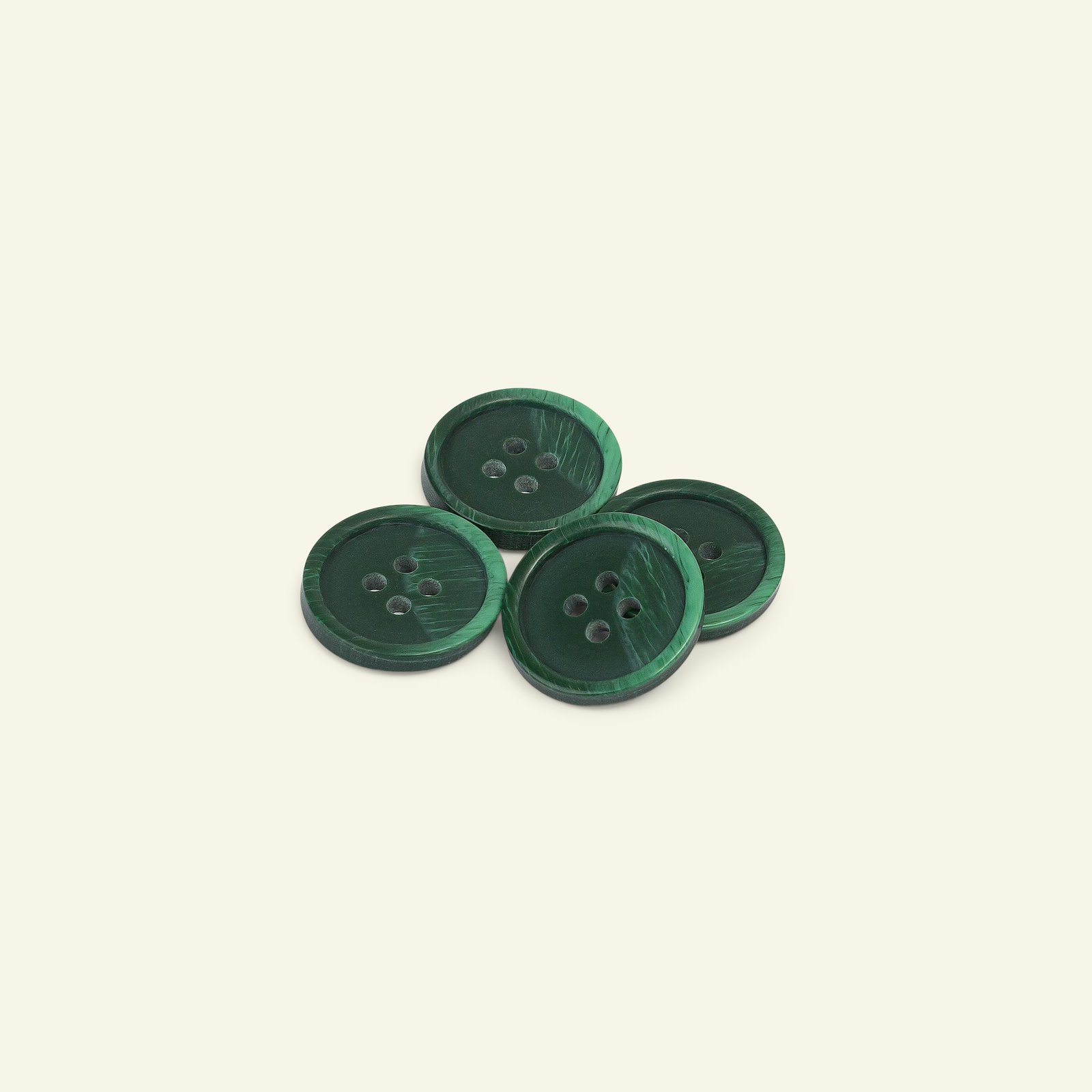 Button 4-holes marble 20mm green 4pcs 33294_pack