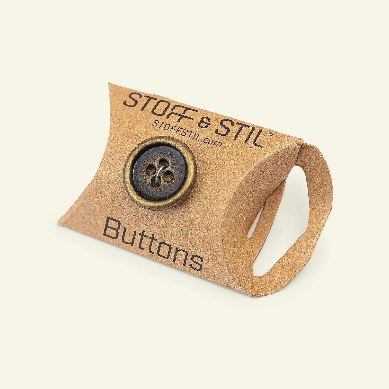 Button 4-holes metal gold rim 32mm 4pcs 33526_pack_b