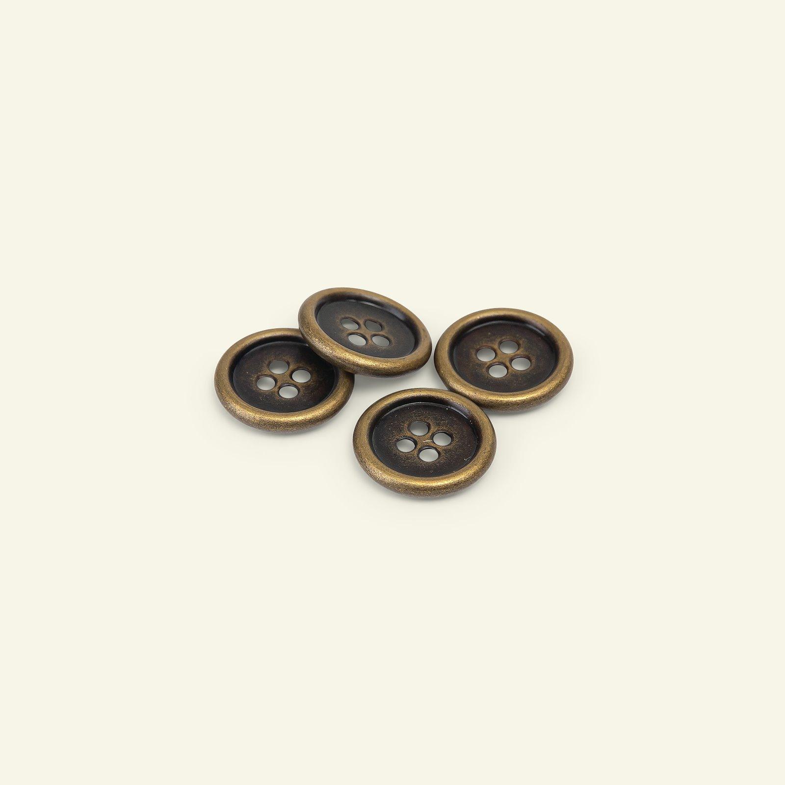 Button 4-holes metal gold rim 32mm 4pcs 33526_pack