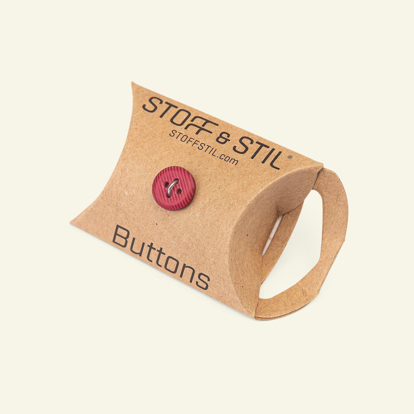 Button 4-holes stripe 12mm dark red 6pc 33388_pack_b