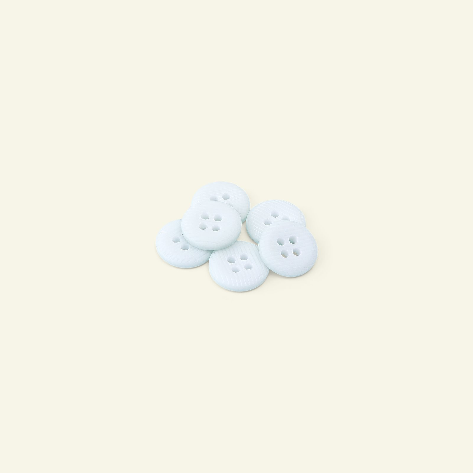 Button 4-holes stripe 14mm baby blue 6p 33279_pack