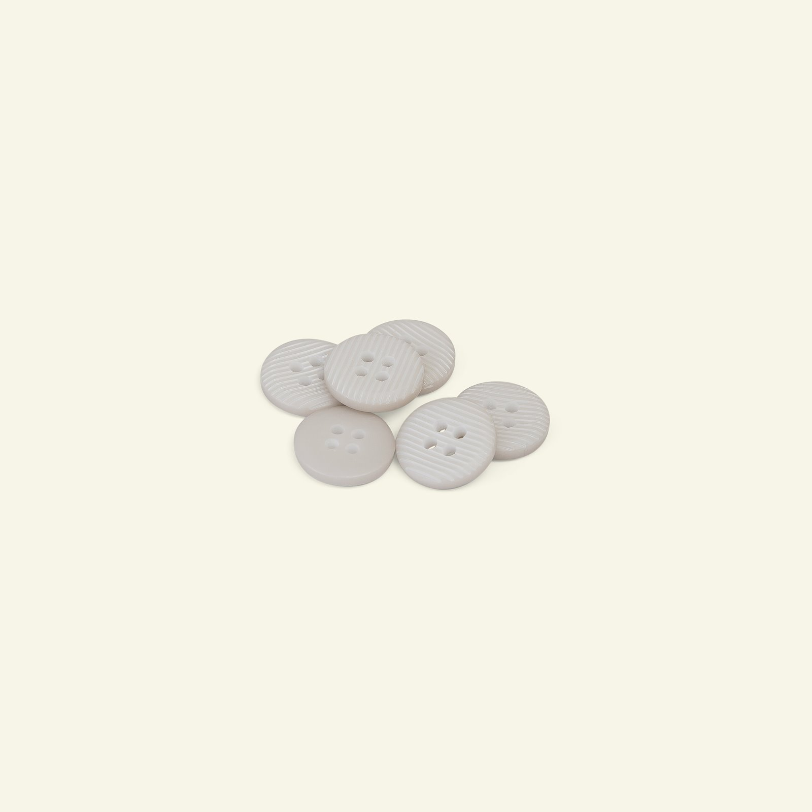 Button 4-holes stripe 14mm light grey 6p 33053_pack