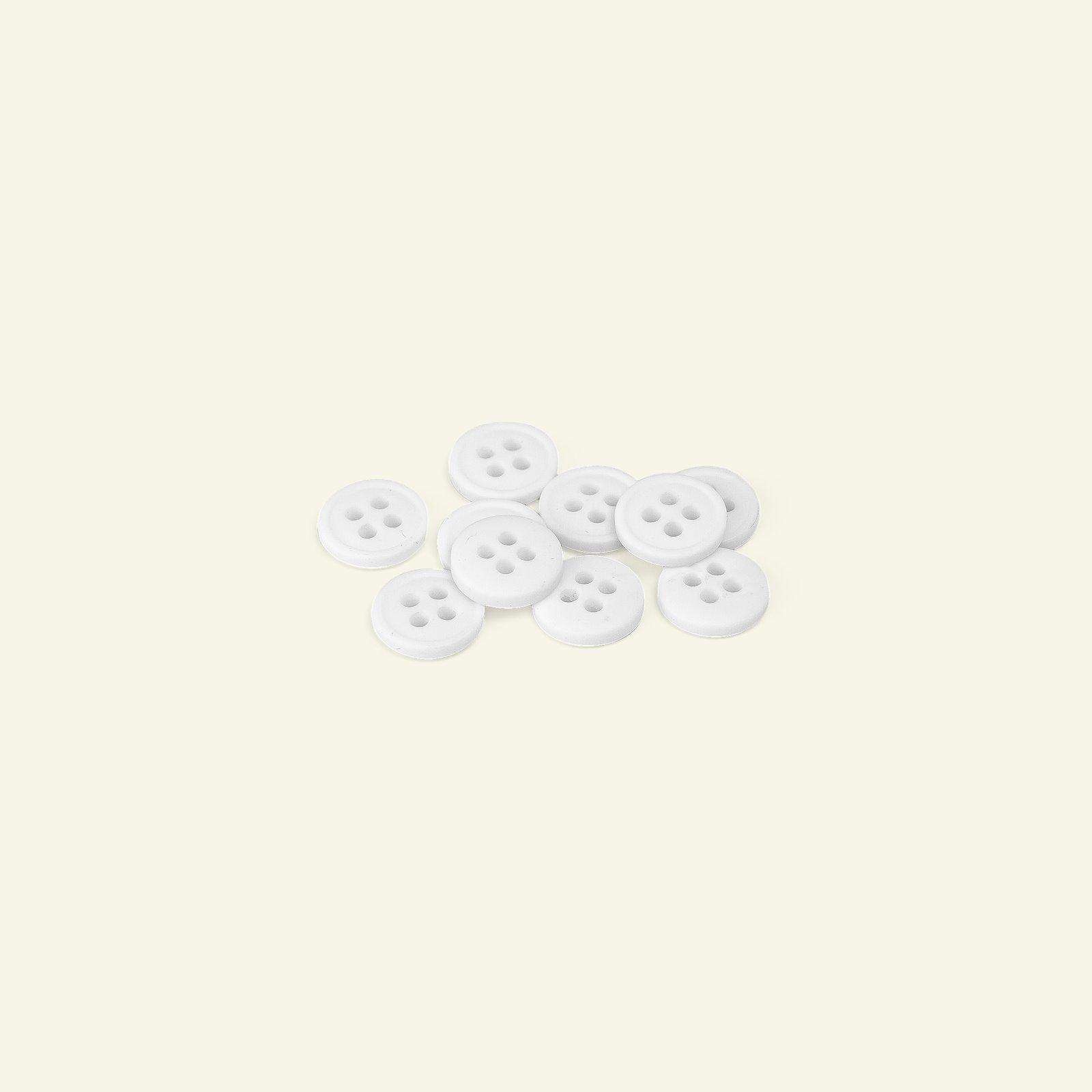 Button 4-holes w/rim 11mm white 10pcs 33447_pack