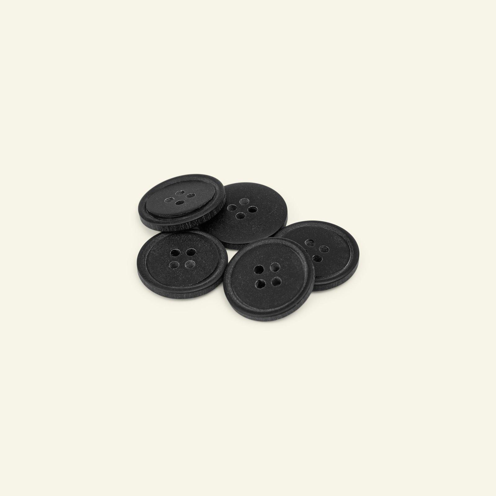 Button 4-holes w/rim 20mm black 5pcs 33454_pack