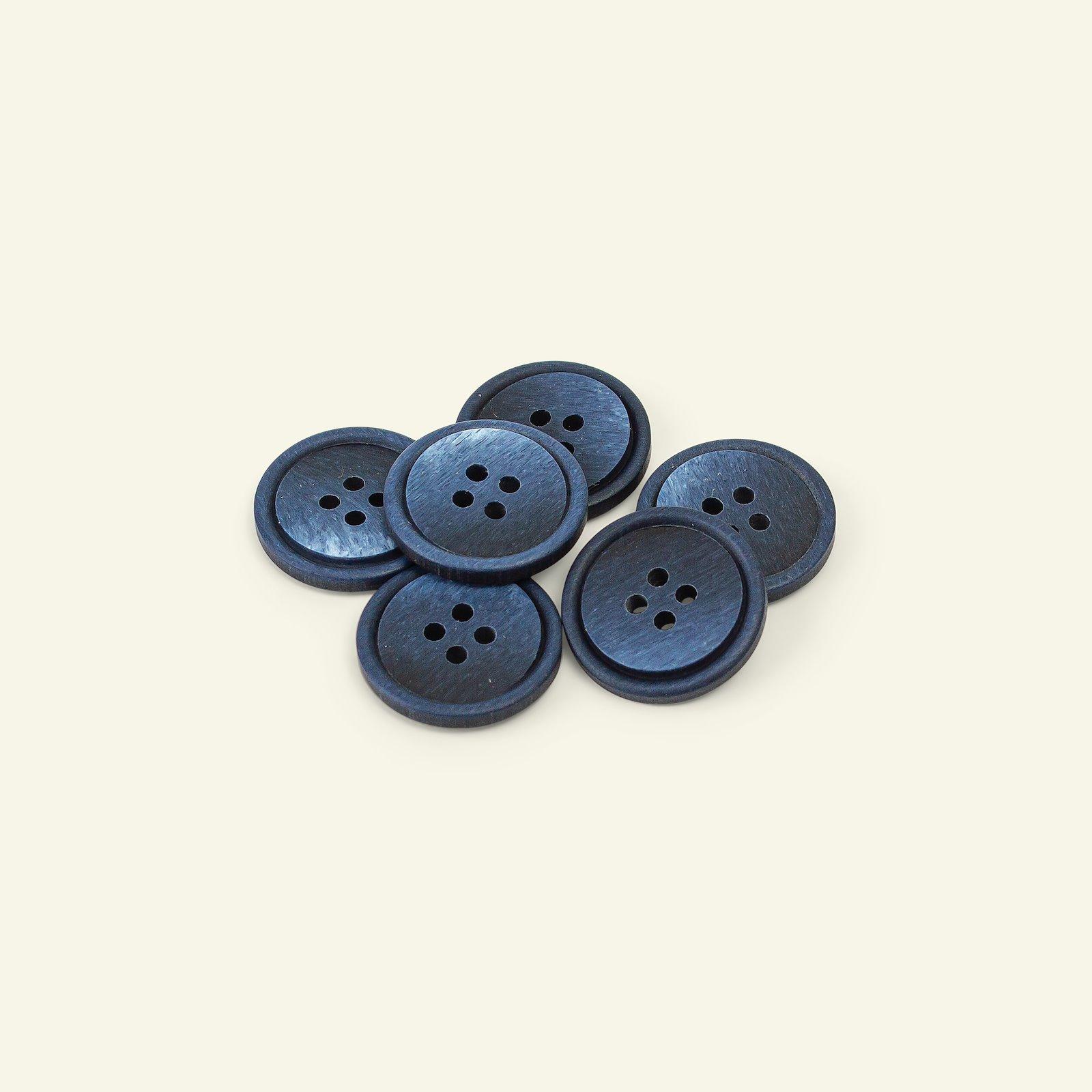 Button 4-holes w/rim 20mm navy 6pcs 33465_pack