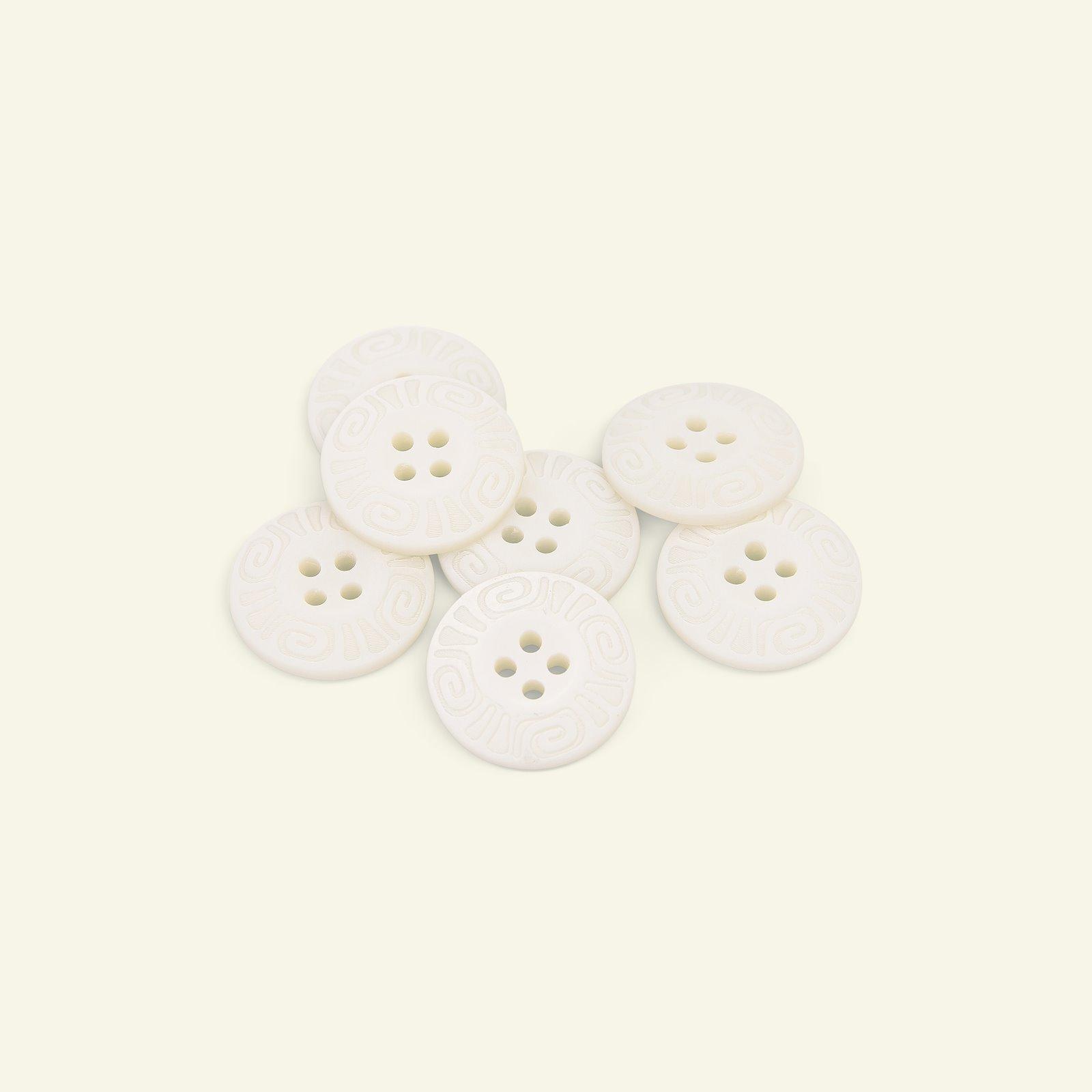 Button 4-holes w/rim 20mm white 7pcs 33102_pack