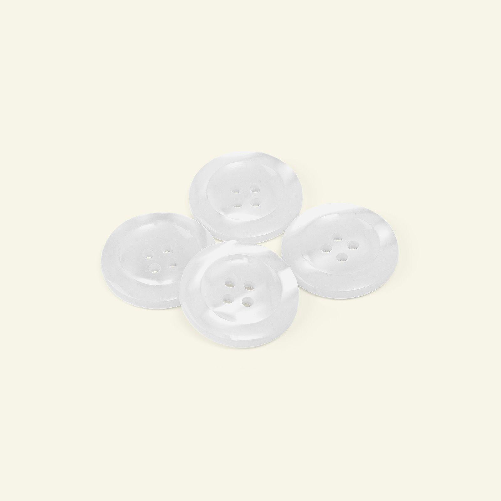 Button 4-holes w/rim 25mm white 4pcs 33031_pack