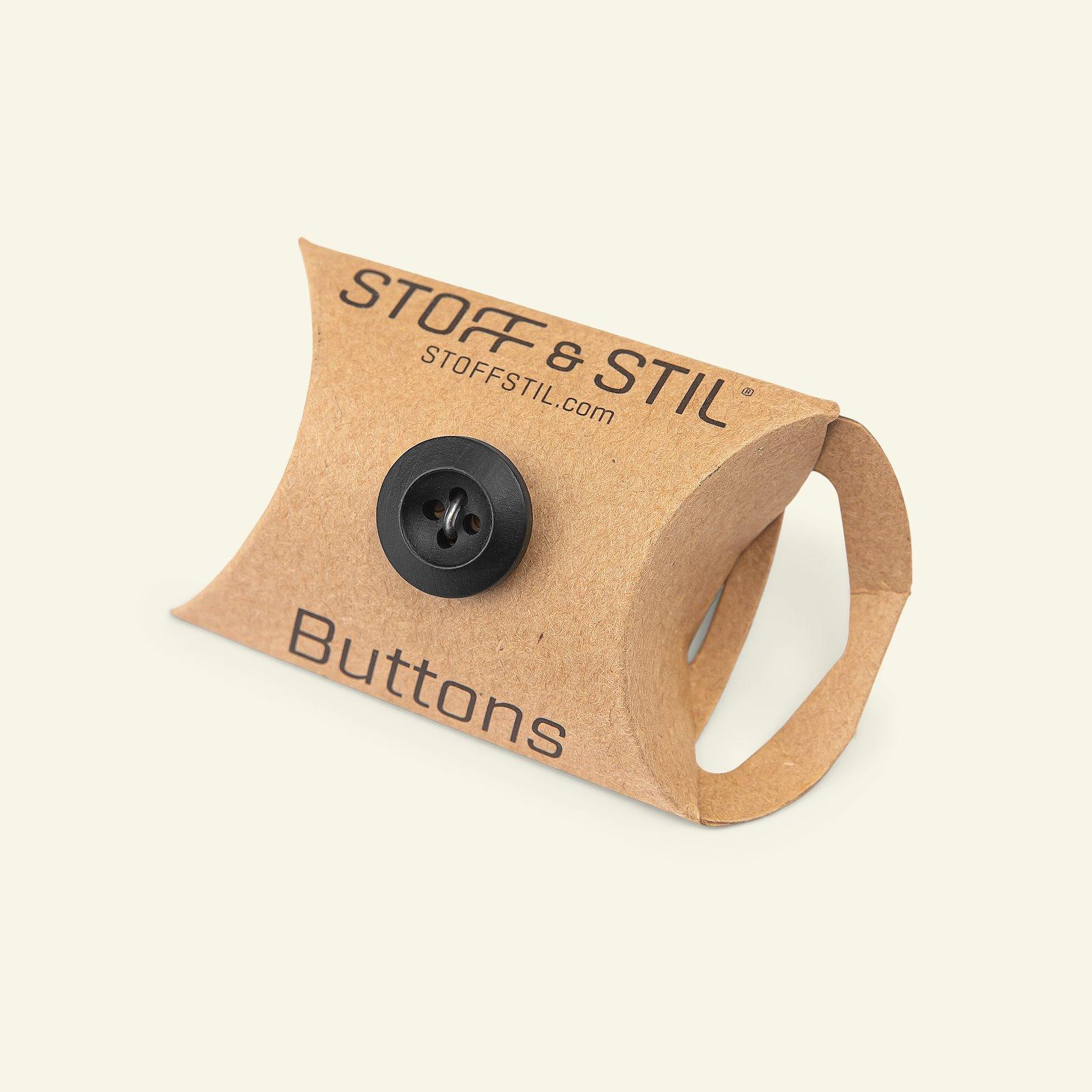 Button 4-holes wood look 15mm black 5pcs 33179_pack_b