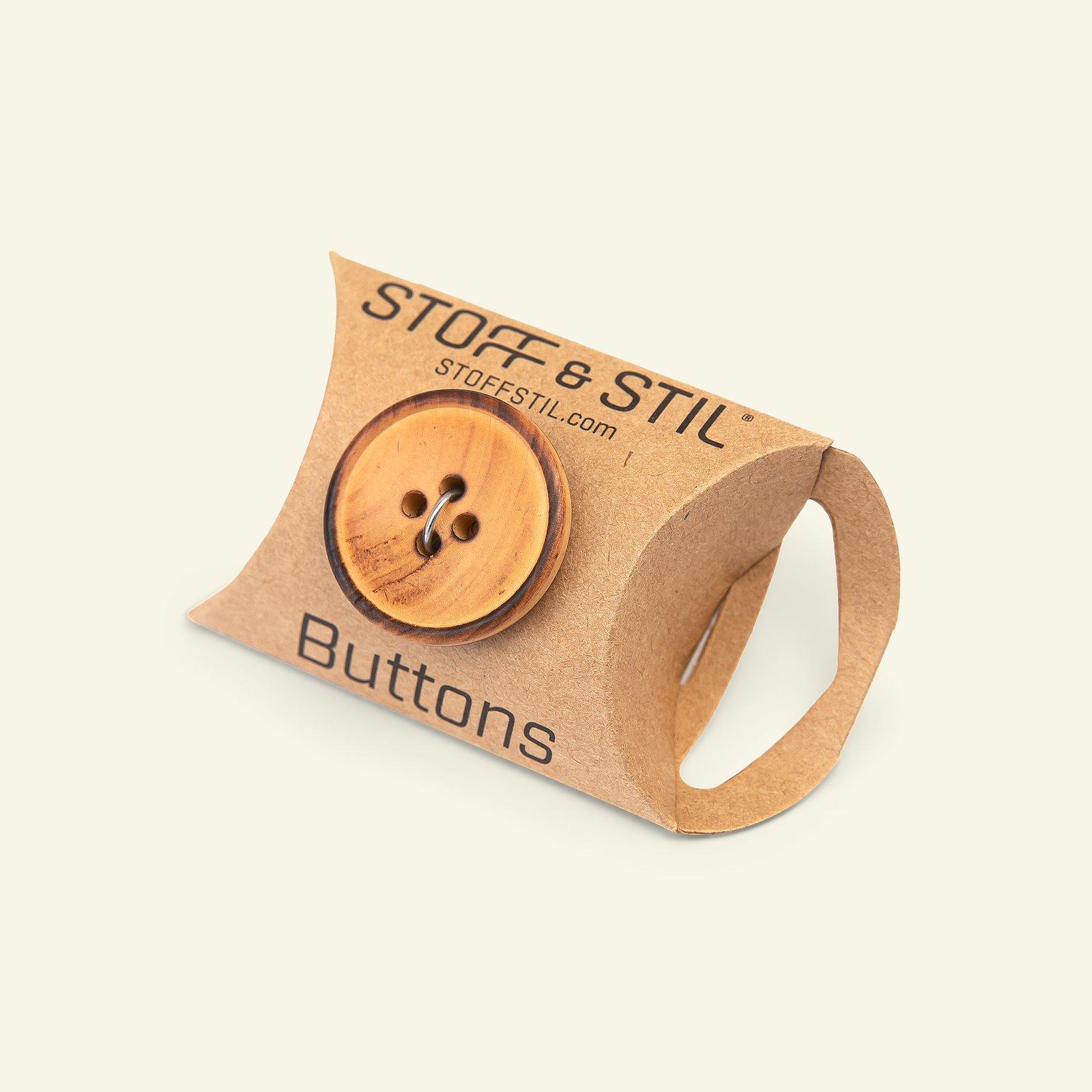 Button 4-holes wood w/rim 25mm 5pcs 33562_pack_b