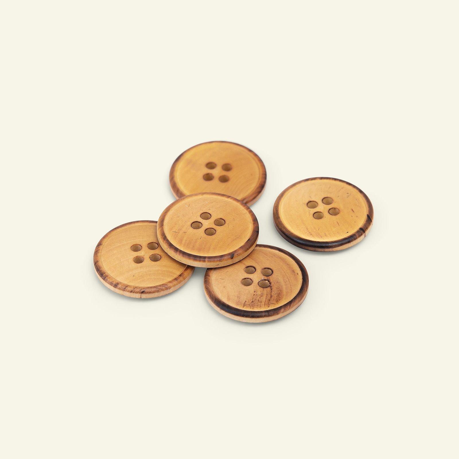 Button 4-holes wood w/rim 25mm 5pcs 33562_pack