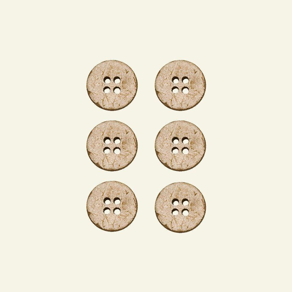 Button coconut 15mm 4 holes 6 pcs 44495_pack