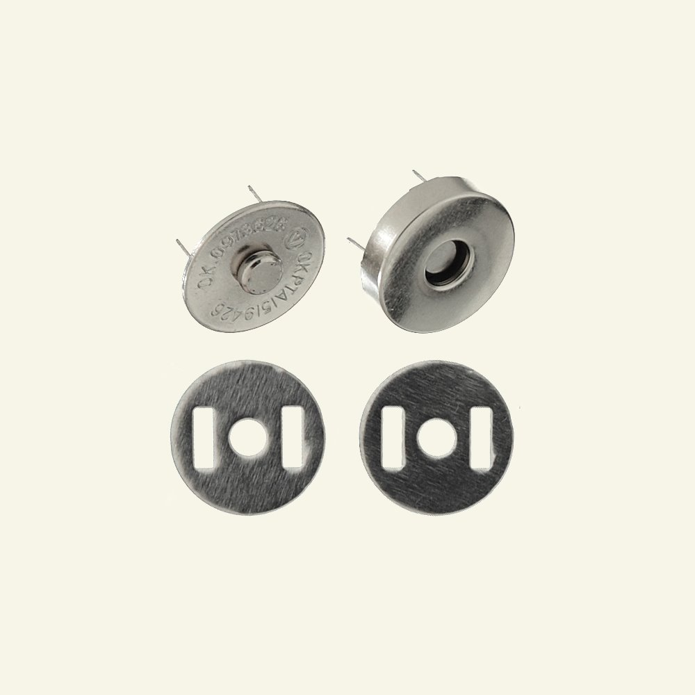 Button magnetic 18mm dull silver 1pc 40481_pack