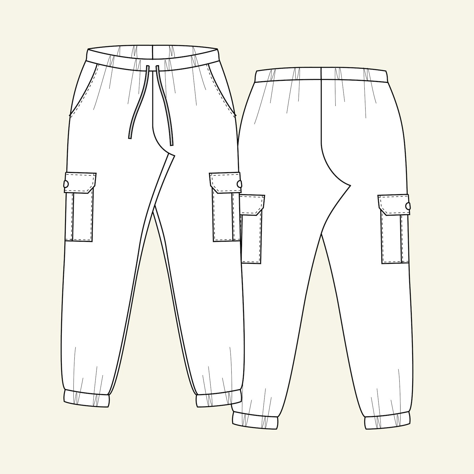 Cargo trousers, 34/6 p20054_pack