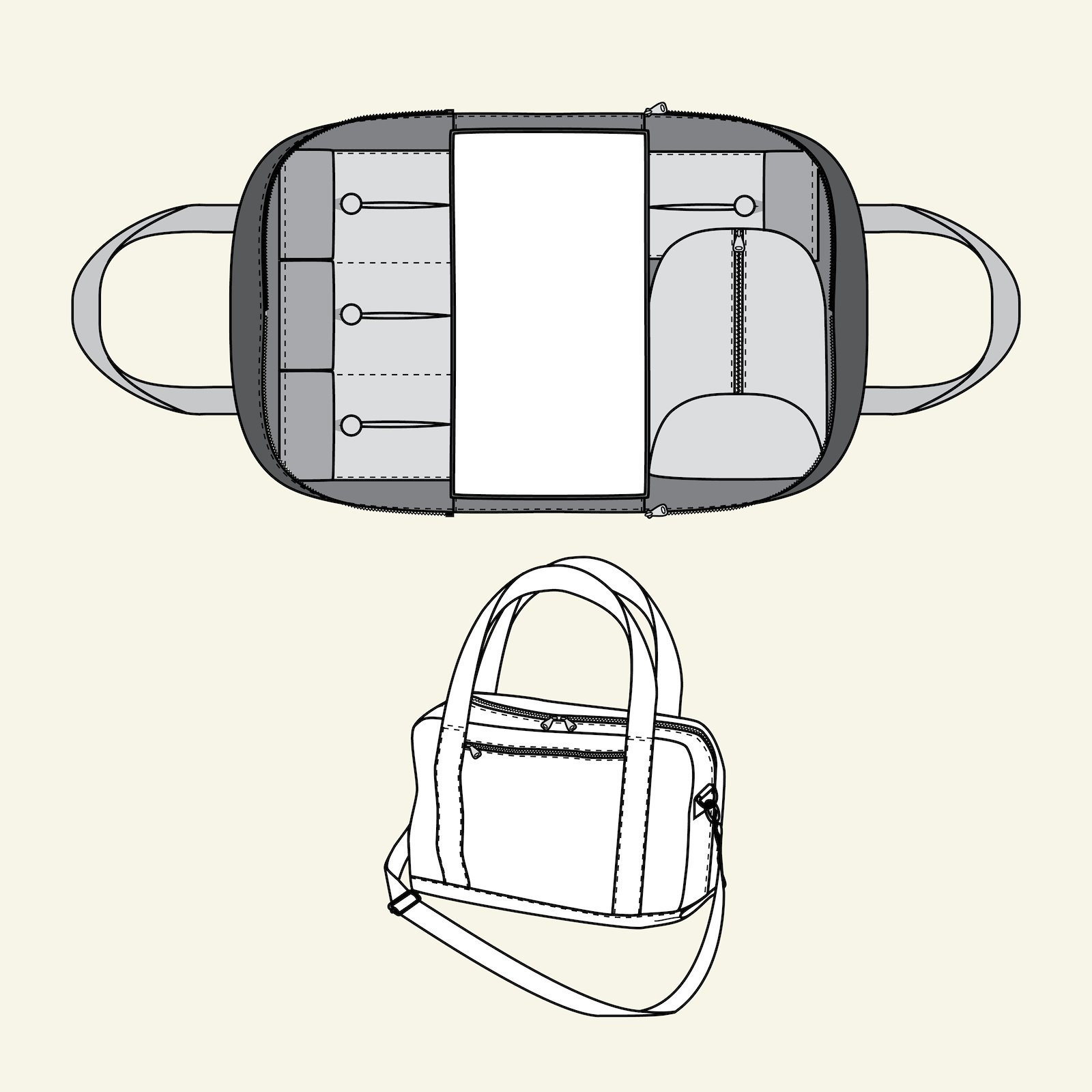 Changing bag with zipper p90299_pack