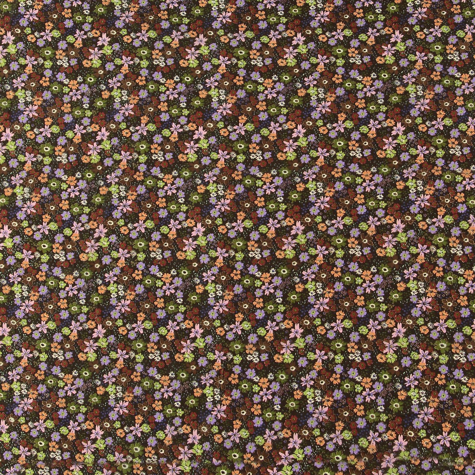 Chiffon, Braun mit Blumen und Folie 631244_pack_sp