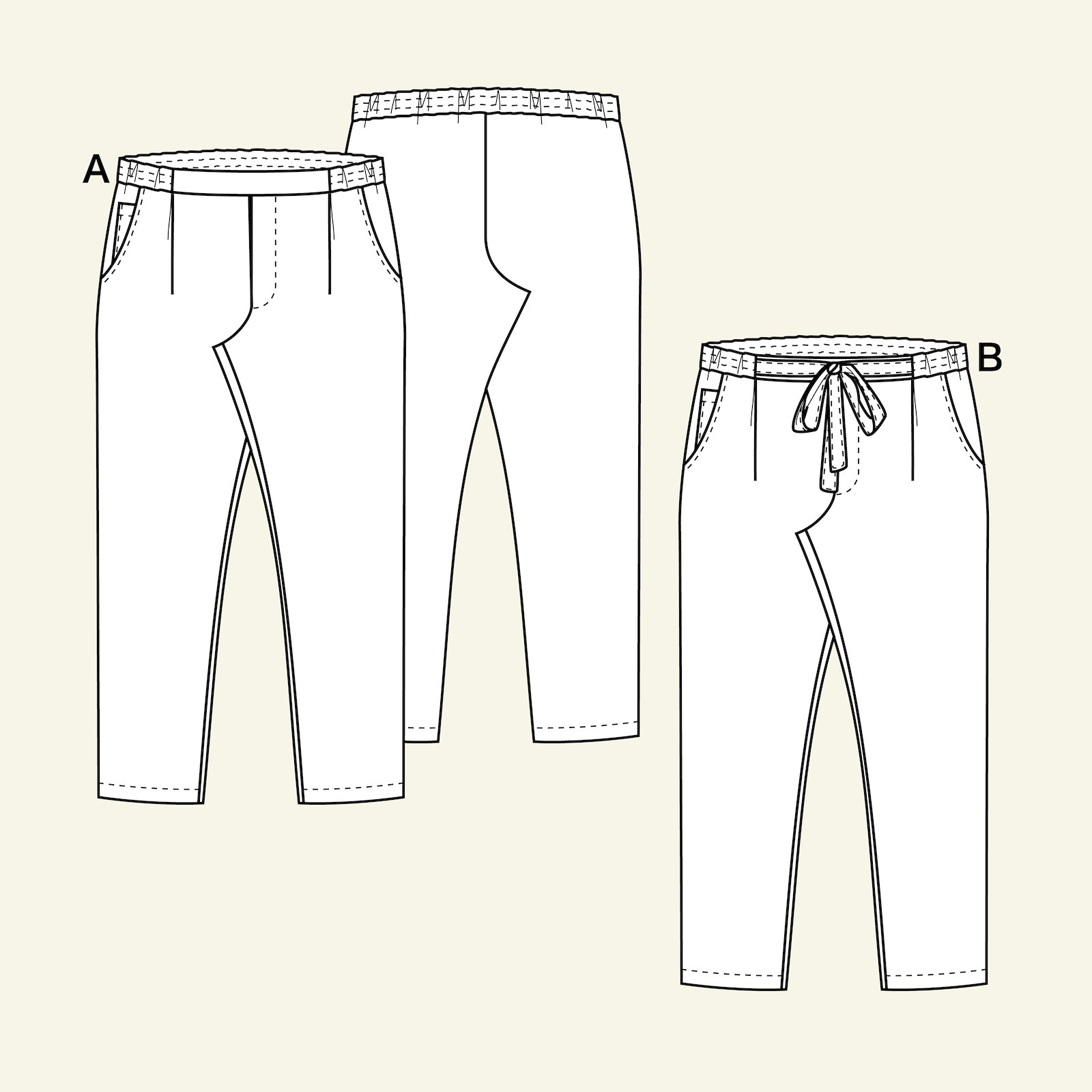 Chino pants, 134/9y p60033_pack