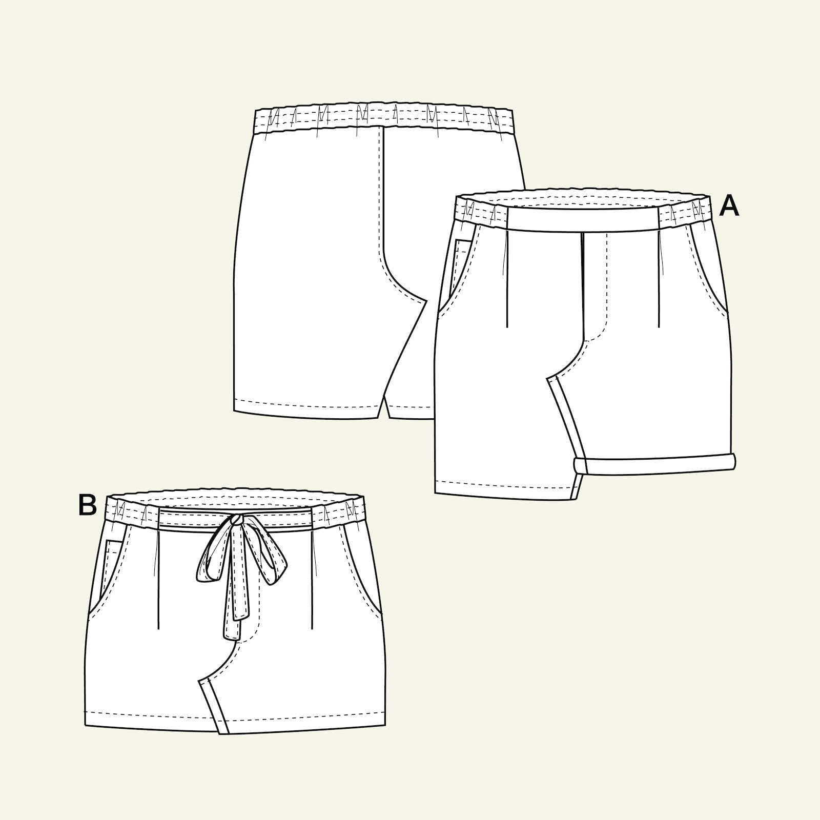 Chino shorts, 110/5y p60036_pack
