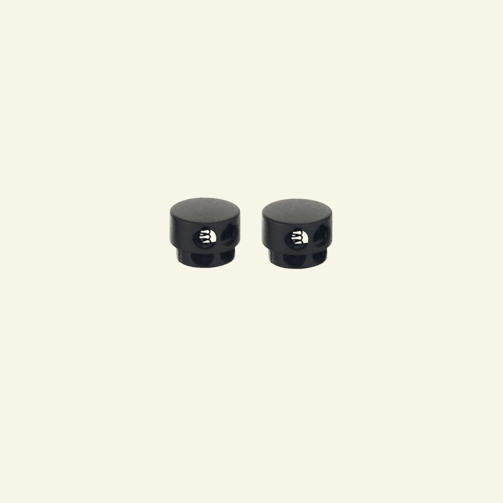 Cord lock double metallic black 2pcs 43705_pack